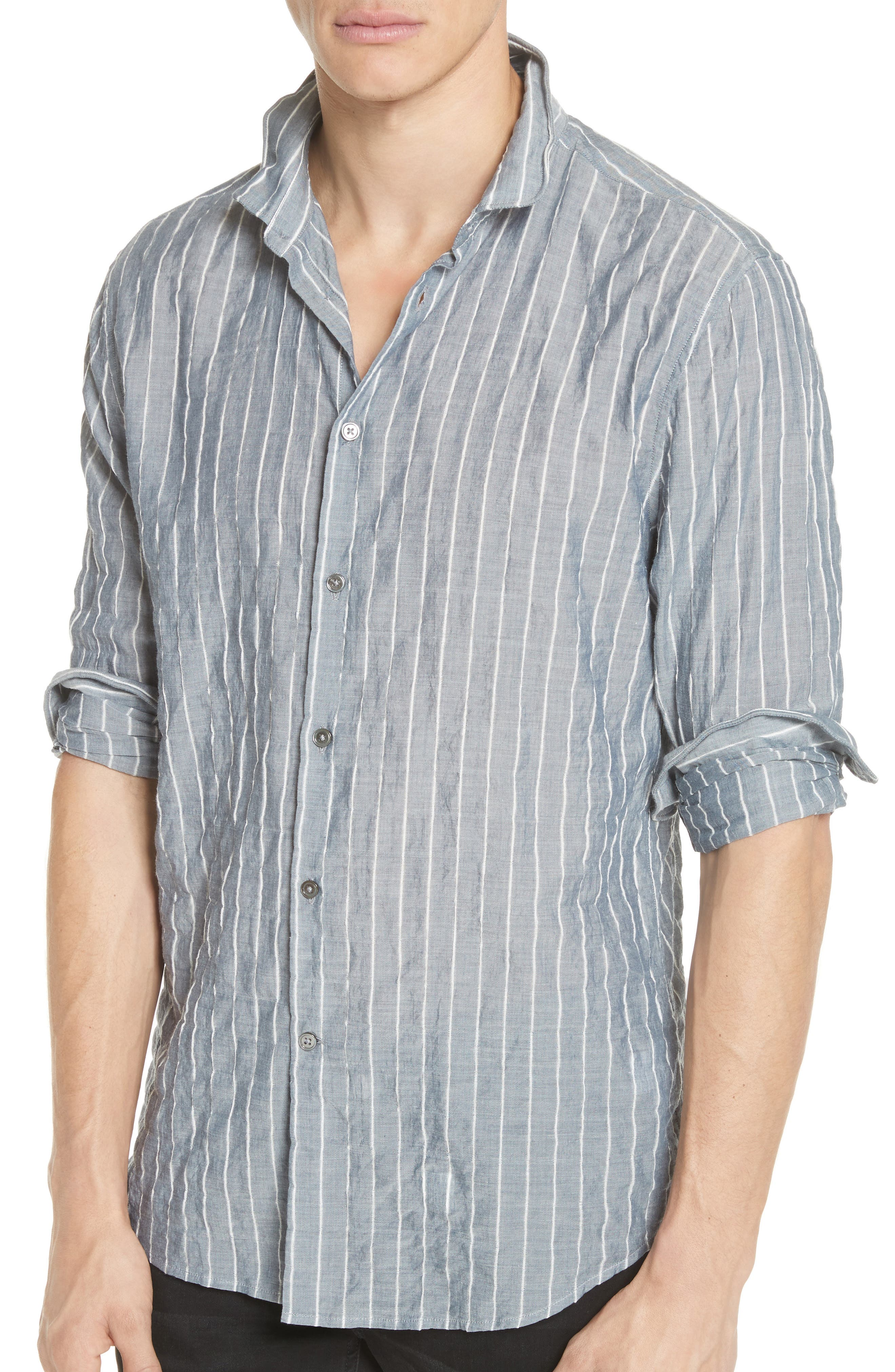Alternate Image 2  - John Varvatos Collection Slim Fit Wire Collar Shirt