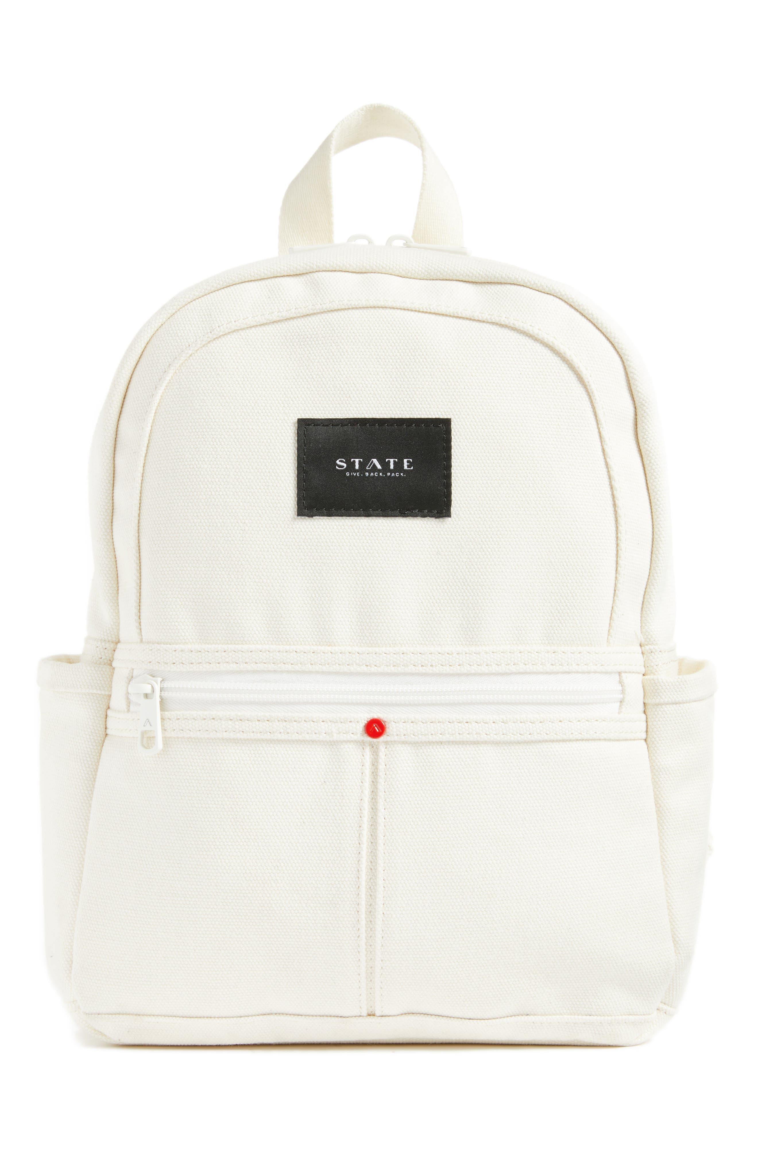 Kensington Mini Kane Canvas Backpack,                             Main thumbnail 1, color,                             Natural