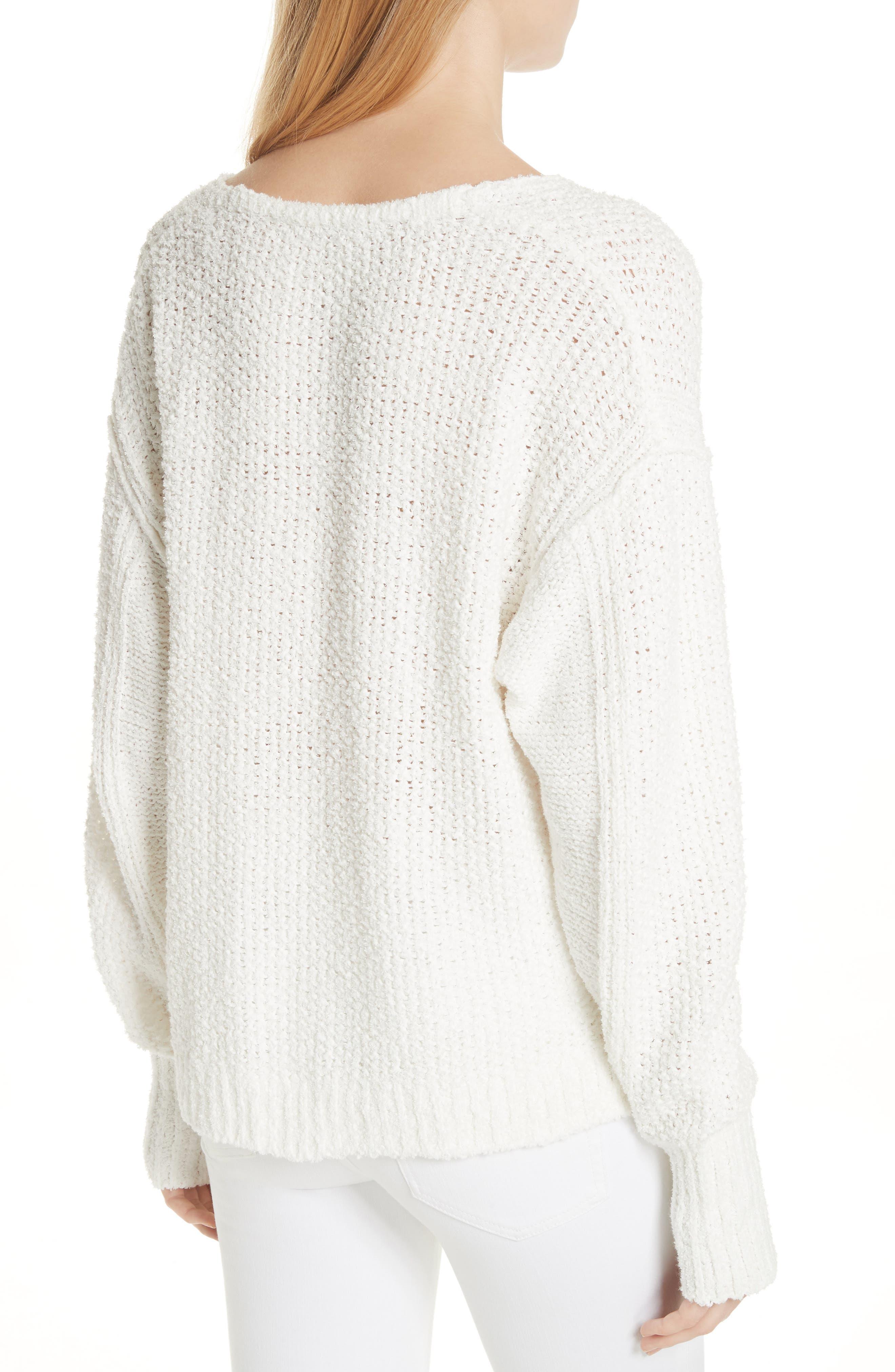 Coco V-Neck Sweater,                             Alternate thumbnail 2, color,                             White