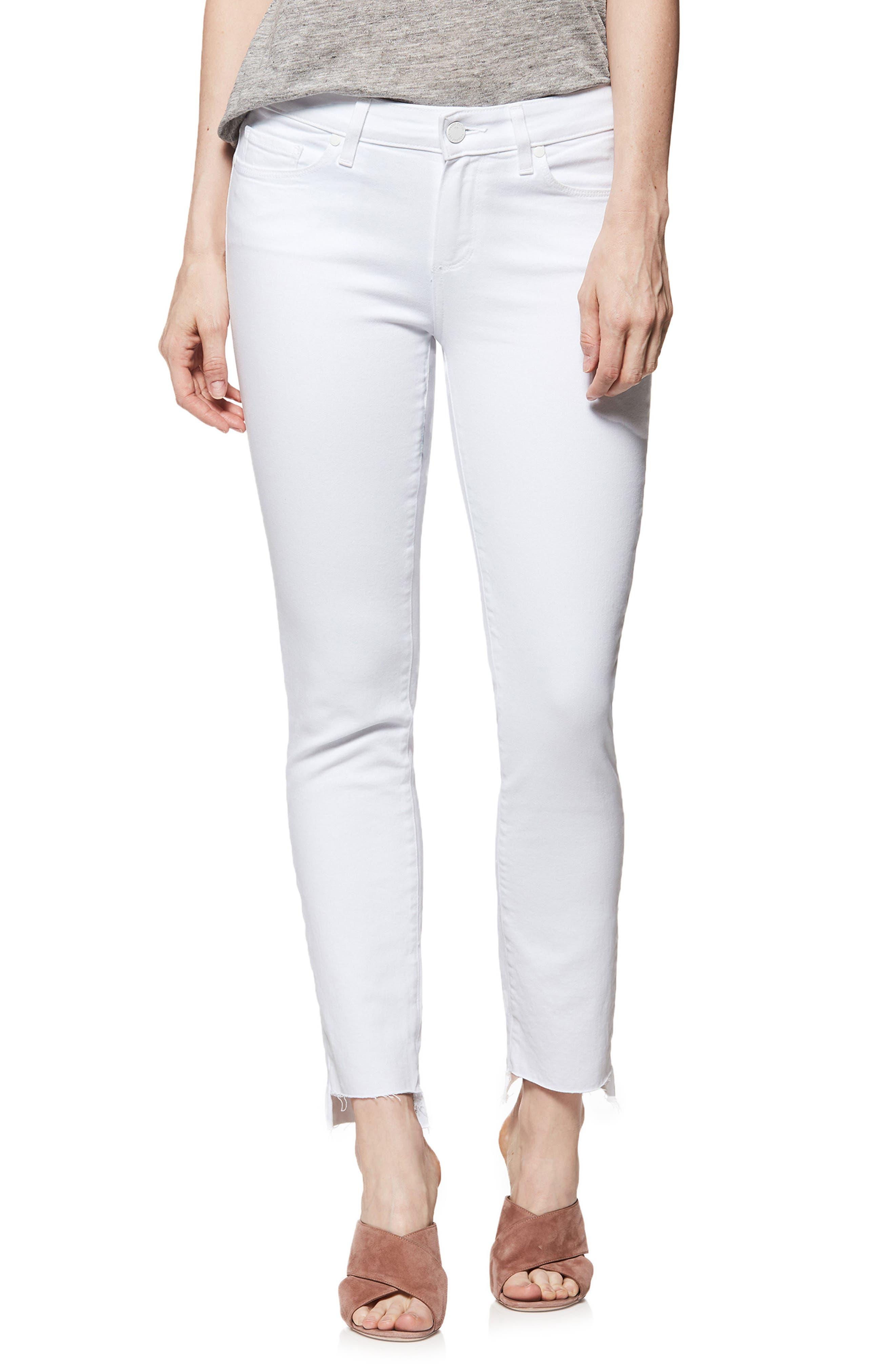 Skyline Ankle Skinny Jeans,                             Main thumbnail 1, color,                             Crisp White