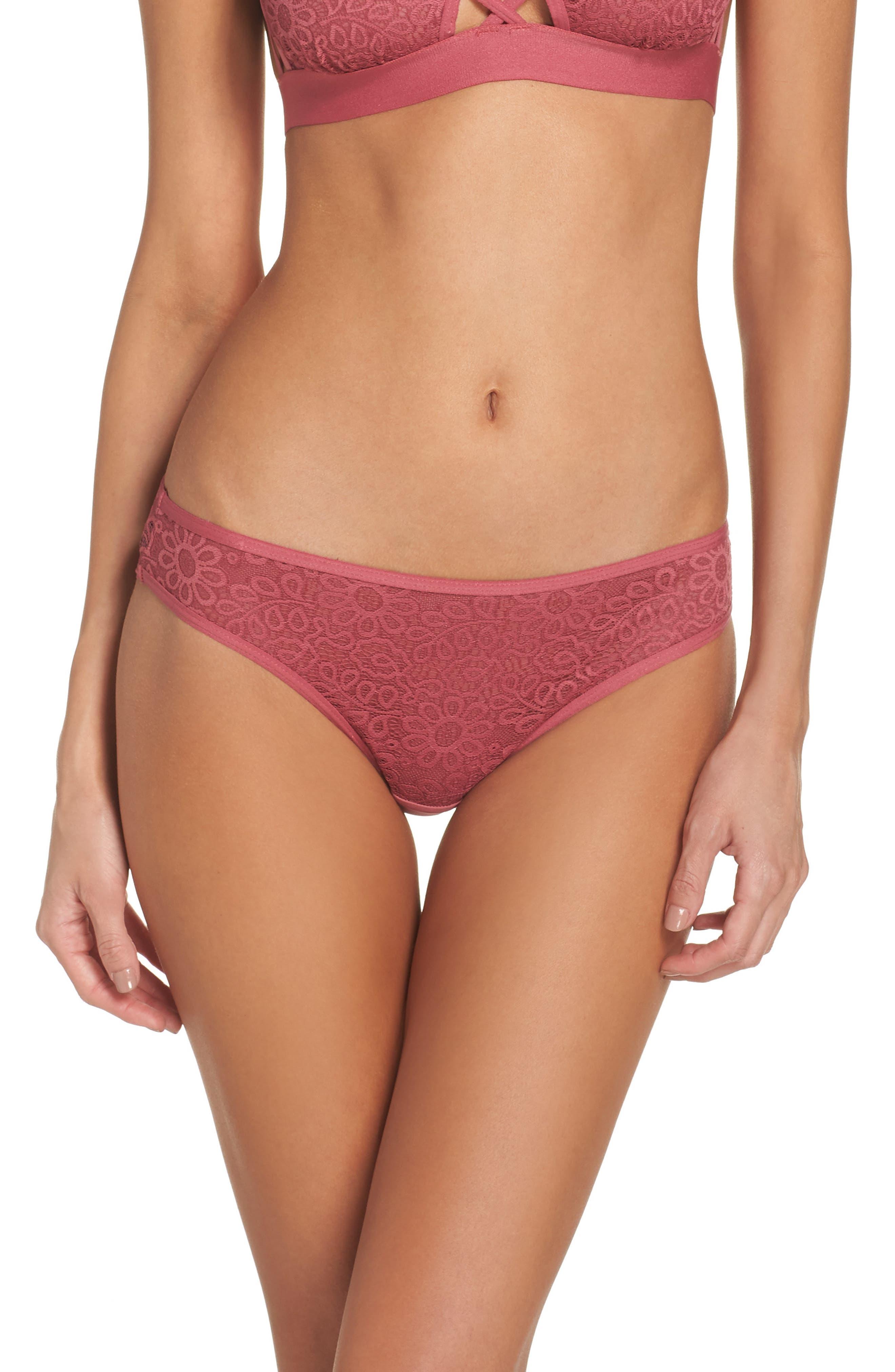 Lace Bikini,                         Main,                         color, Rose Wine