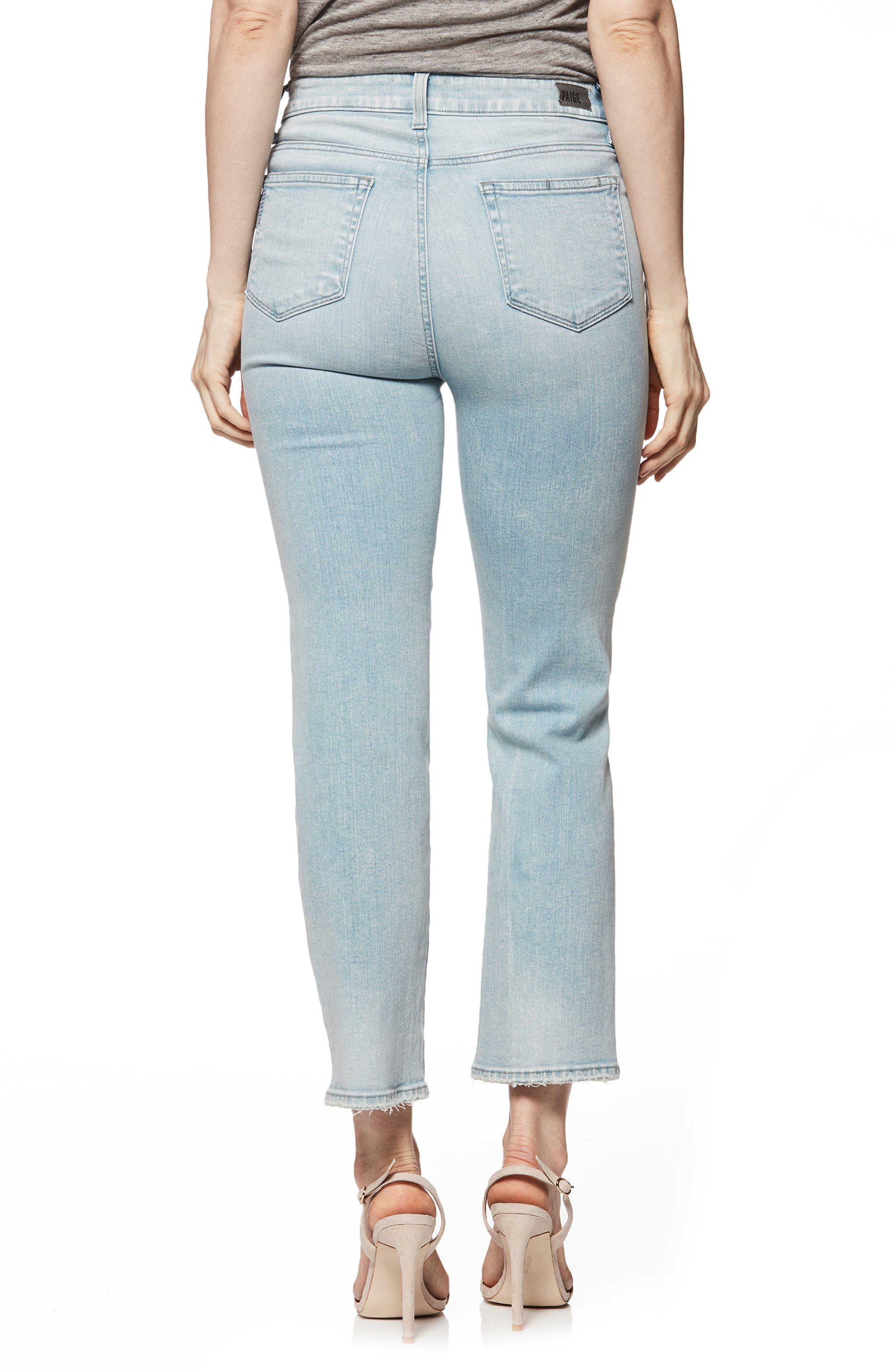 Margot High Waist Straight Leg Jeans,                             Alternate thumbnail 2, color,                             Pasadena W/ Wash Crease