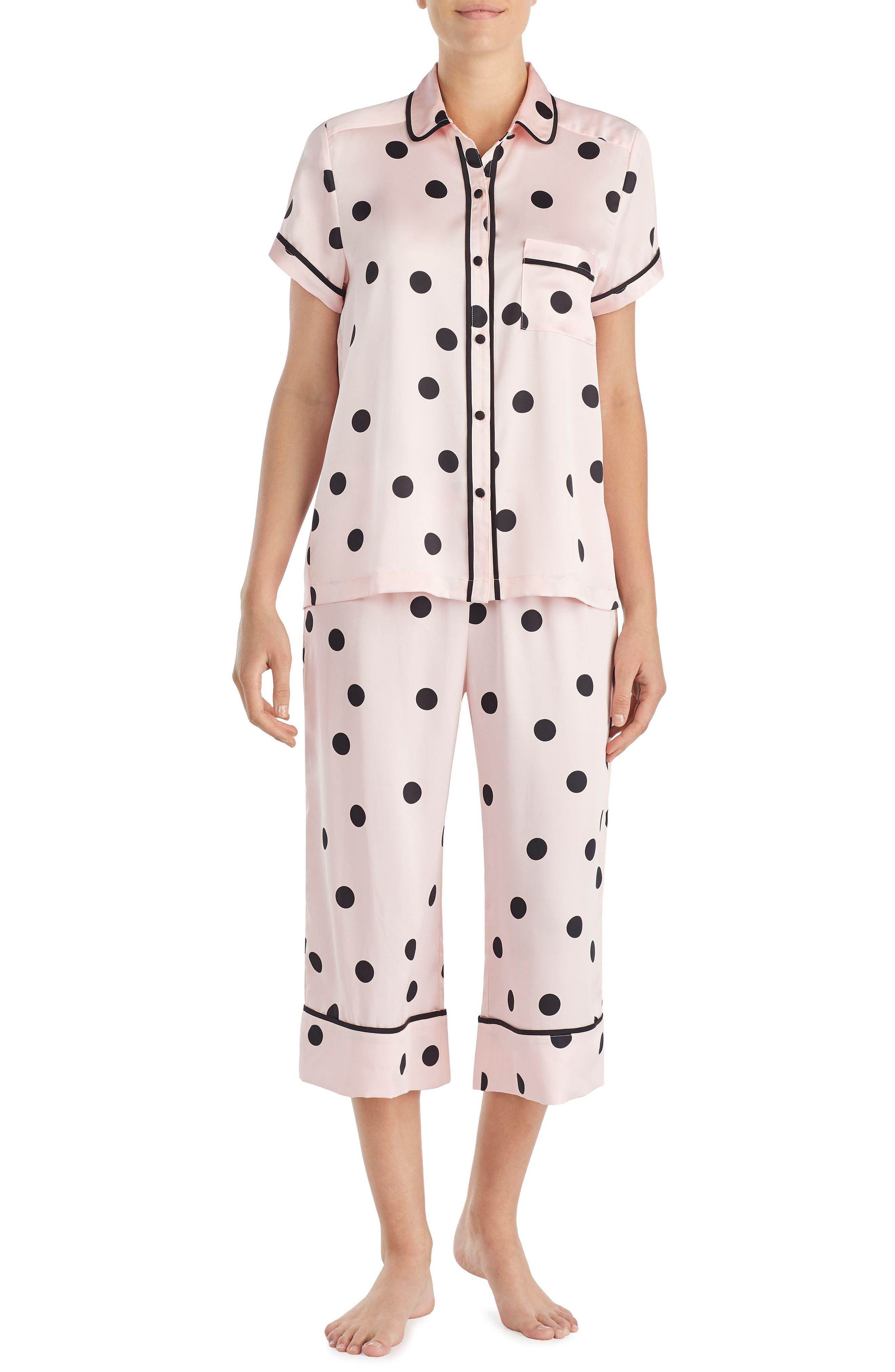 capri pajamas,                             Main thumbnail 1, color,                             Reina Dot