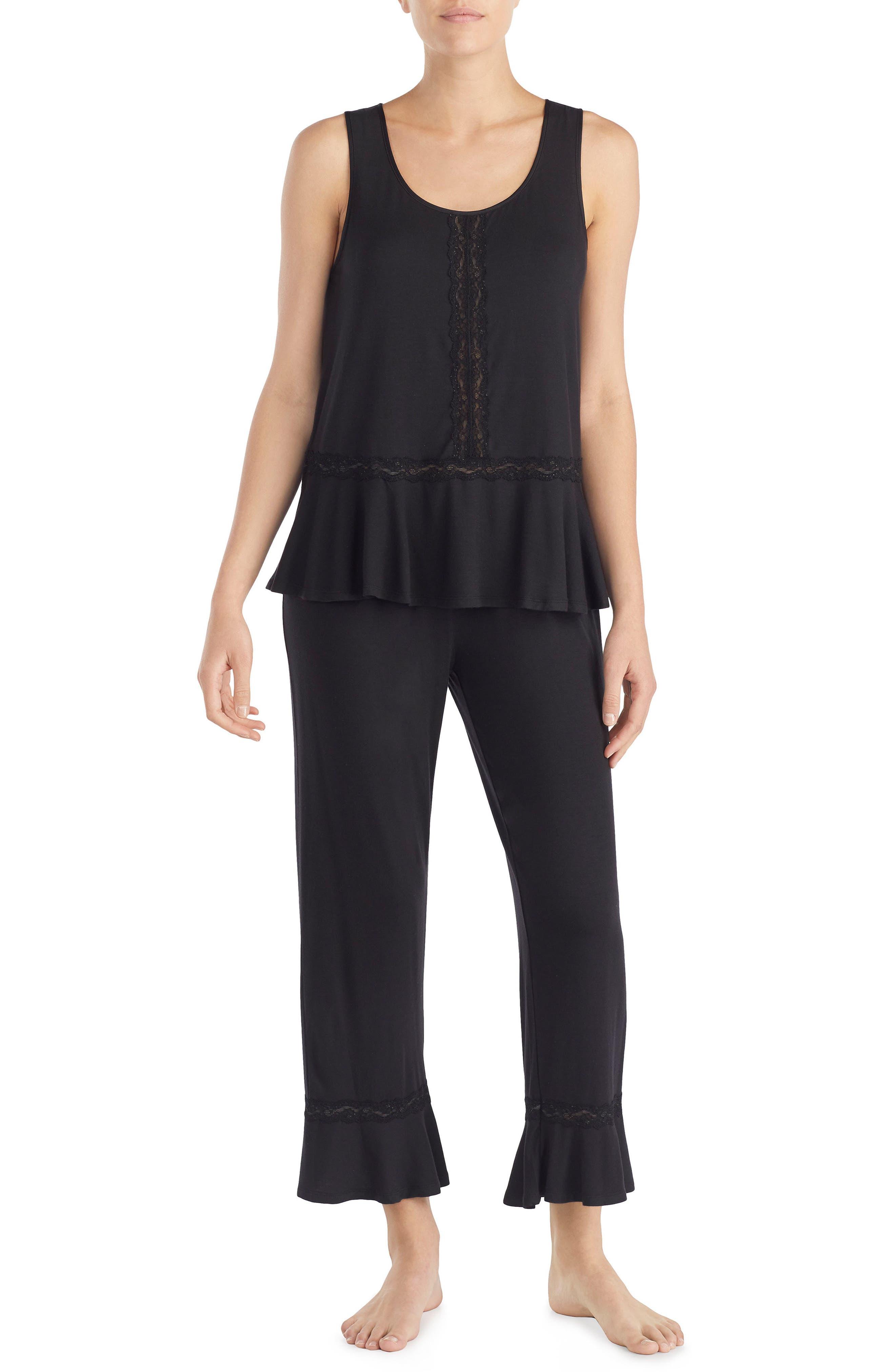 cropped pajamas,                         Main,                         color, Black