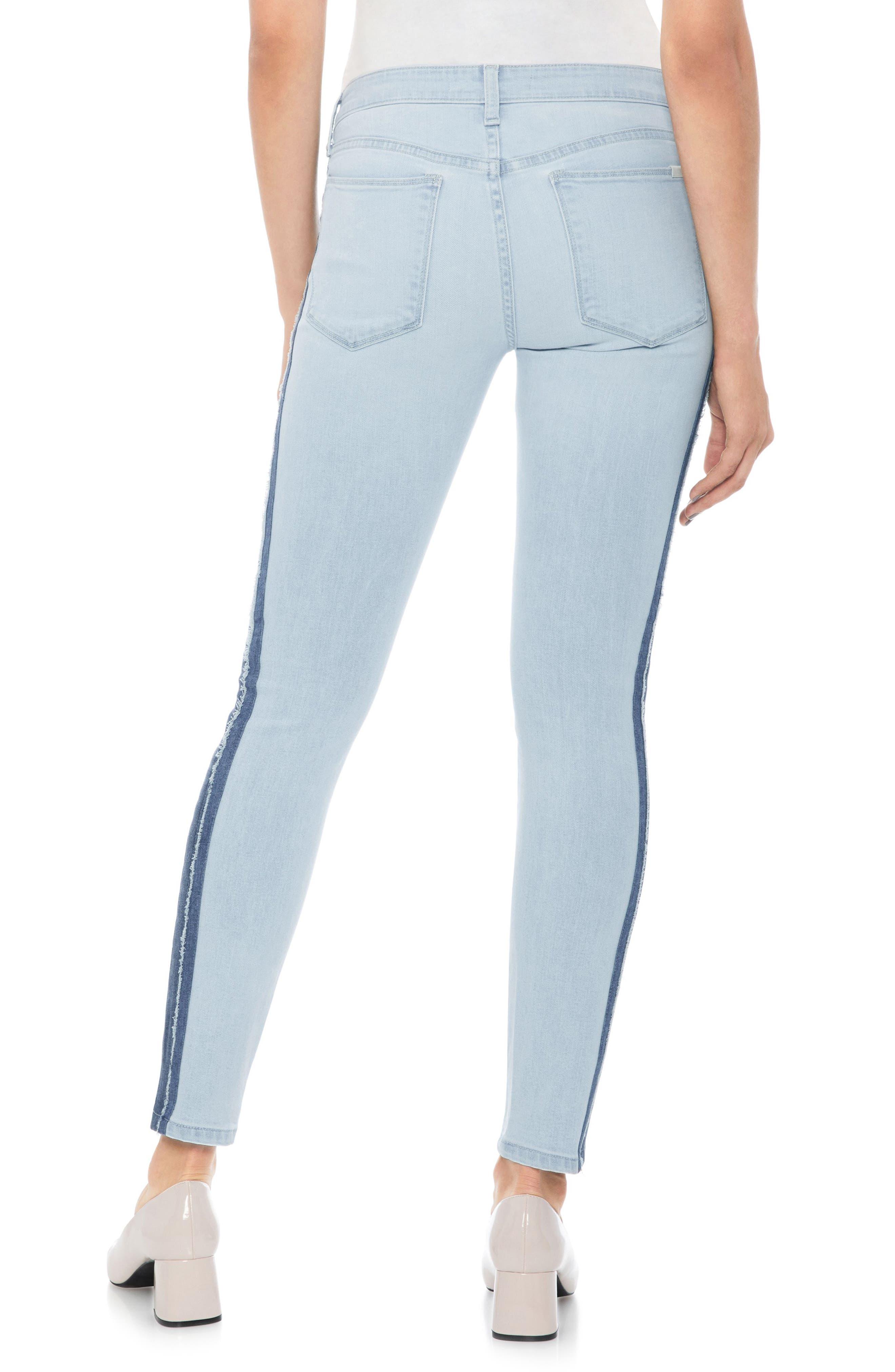 Icon Stripe Ankle Skinny Jeans,                             Alternate thumbnail 2, color,                             Lois