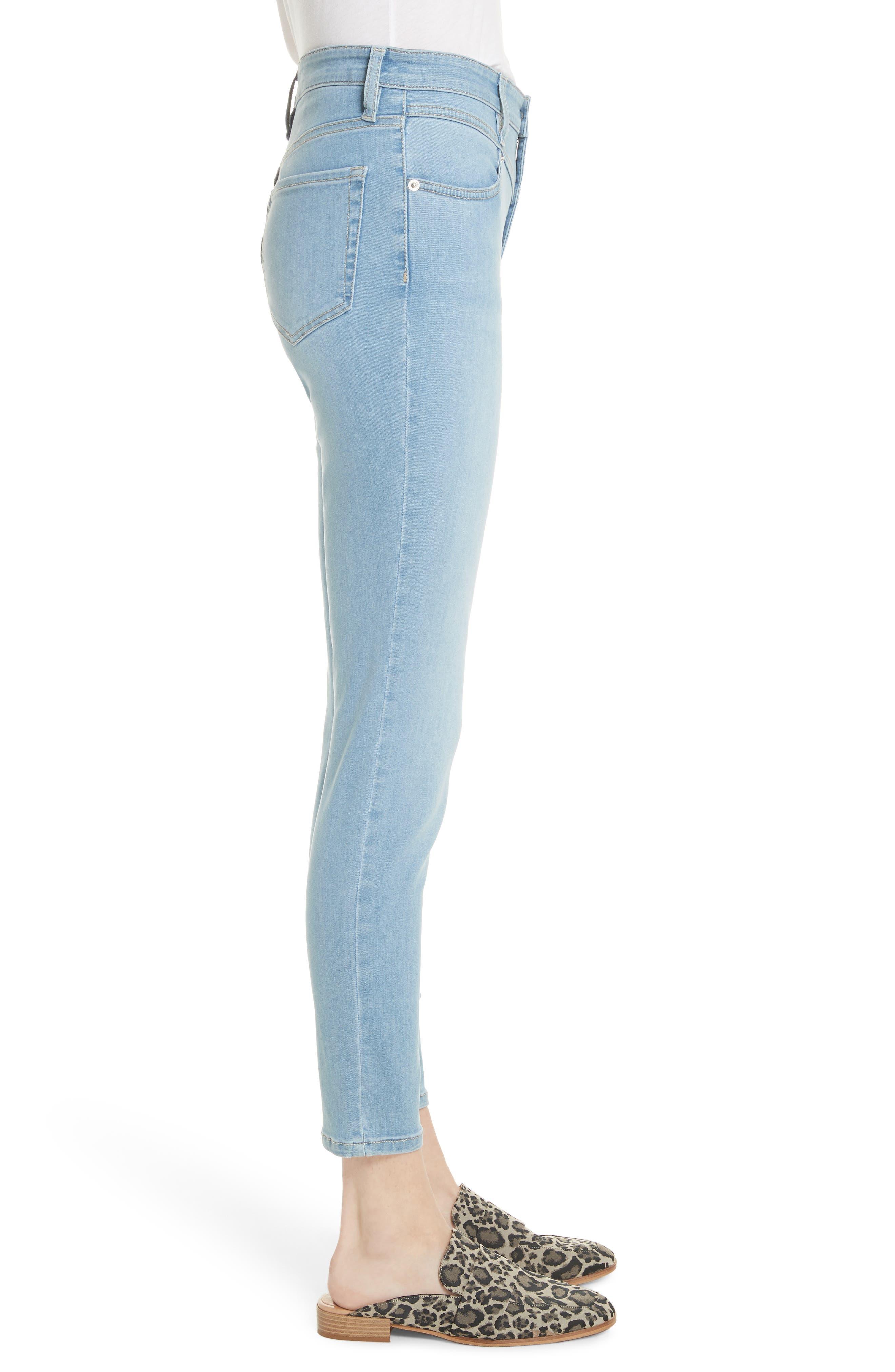 Mara Skinny Jeans,                             Alternate thumbnail 3, color,                             Blue