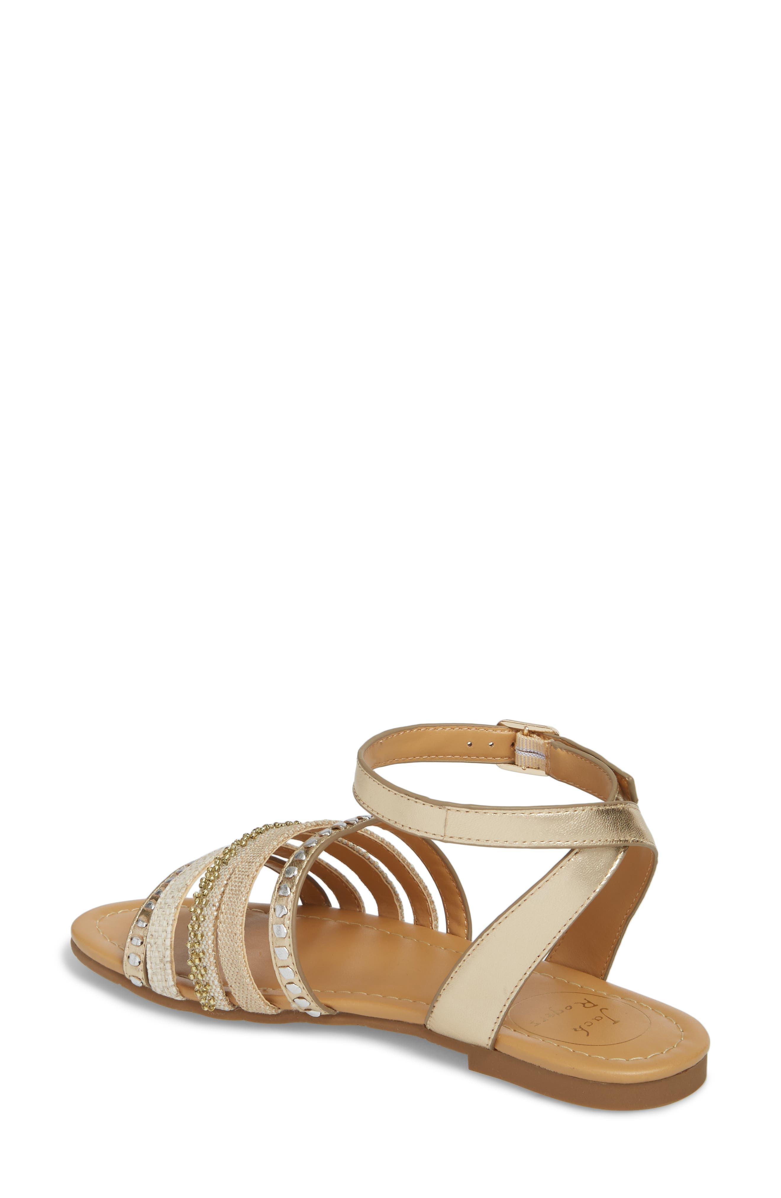 Hannah Braided Embellished Sandal,                             Alternate thumbnail 2, color,                             Platinum/ Silver Leather