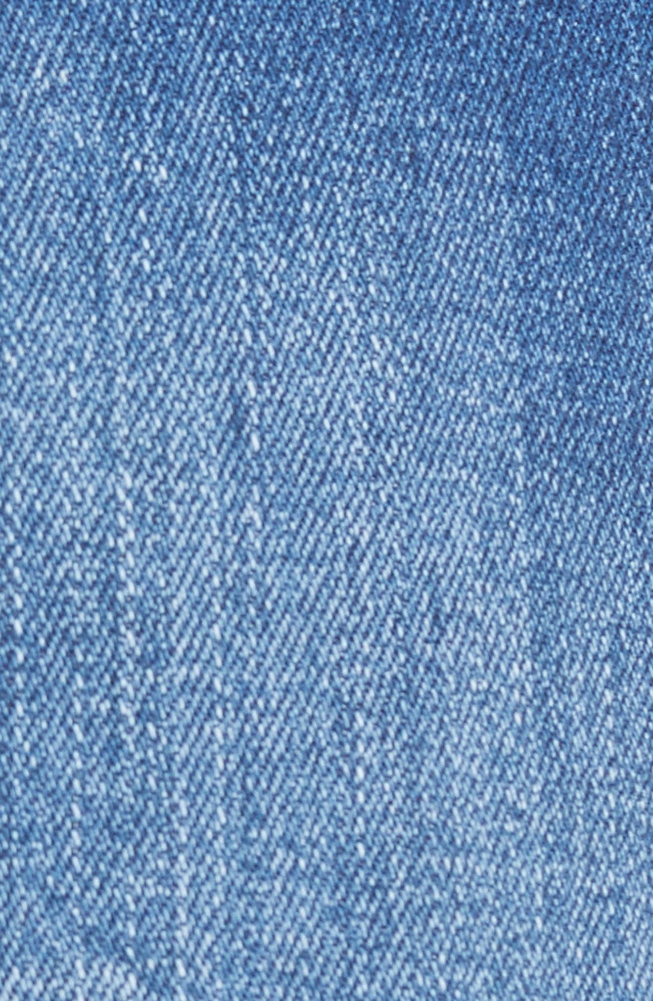 The Lenox High Waist Cutoff Denim Shorts,                             Alternate thumbnail 6, color,                             Low Key
