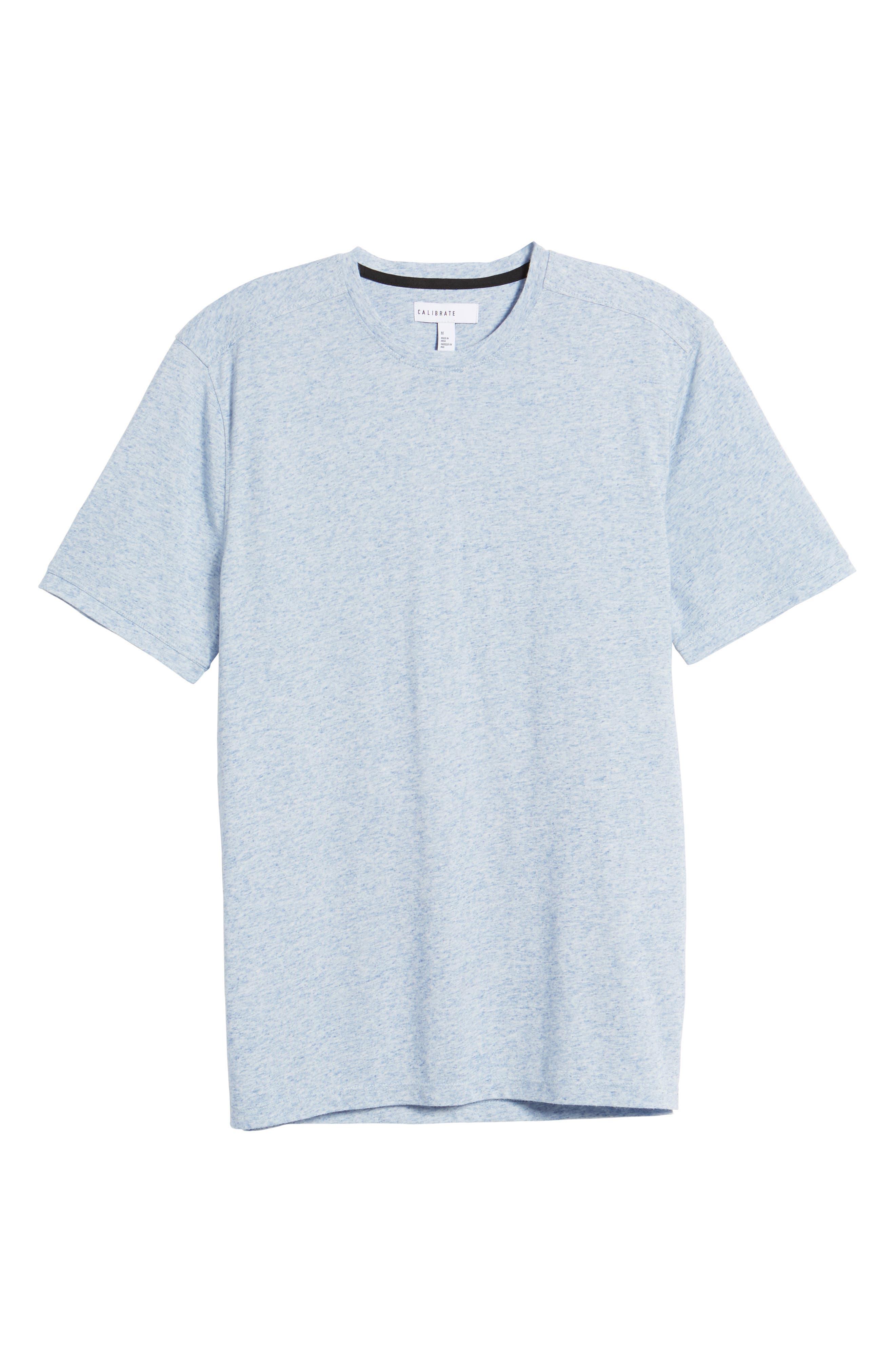 Crewneck T-Shirt,                             Alternate thumbnail 6, color,                             Blue Lake Heather