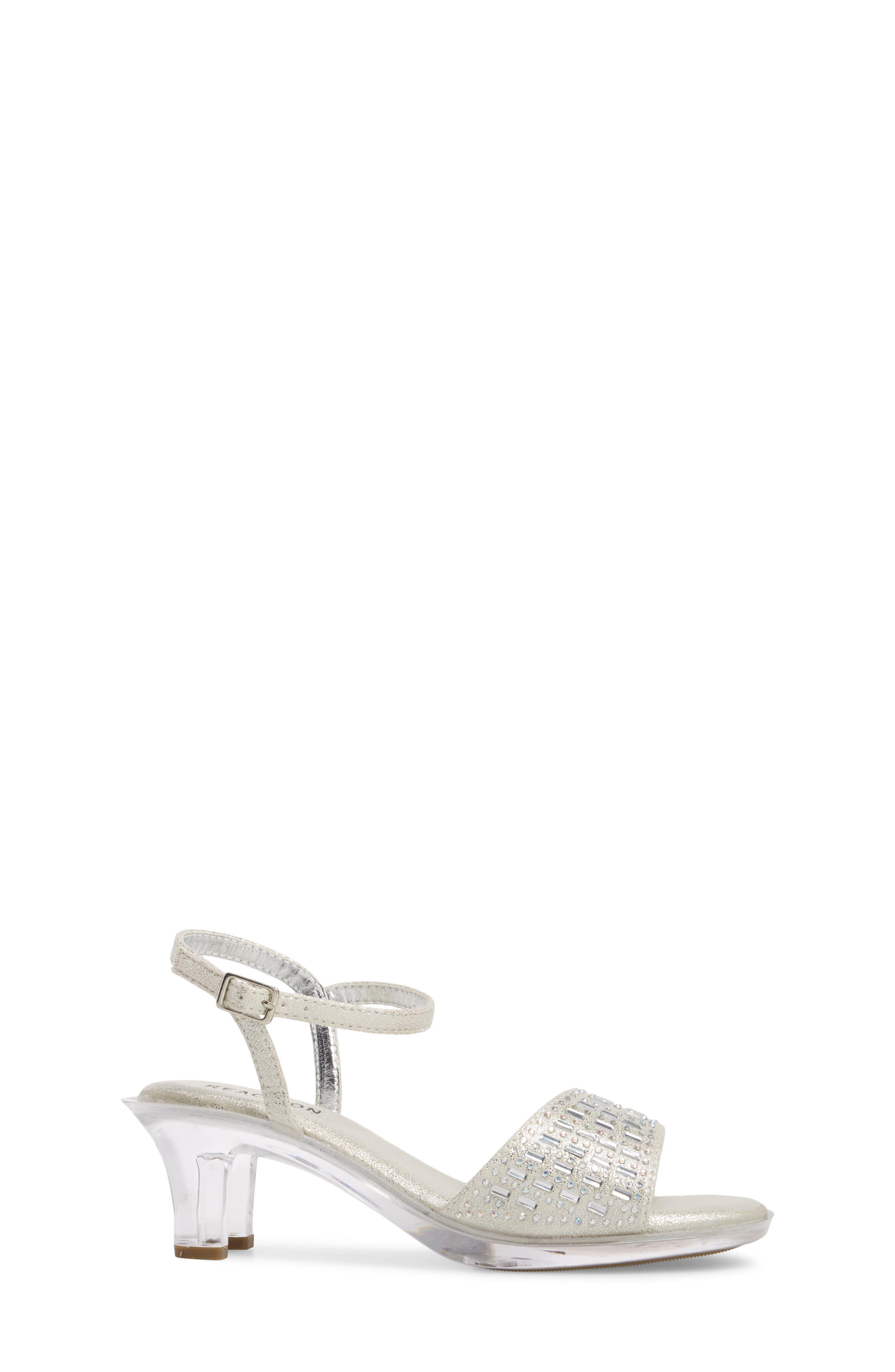Cind-R-Ella Embellished Sandal,                             Alternate thumbnail 3, color,                             Silver