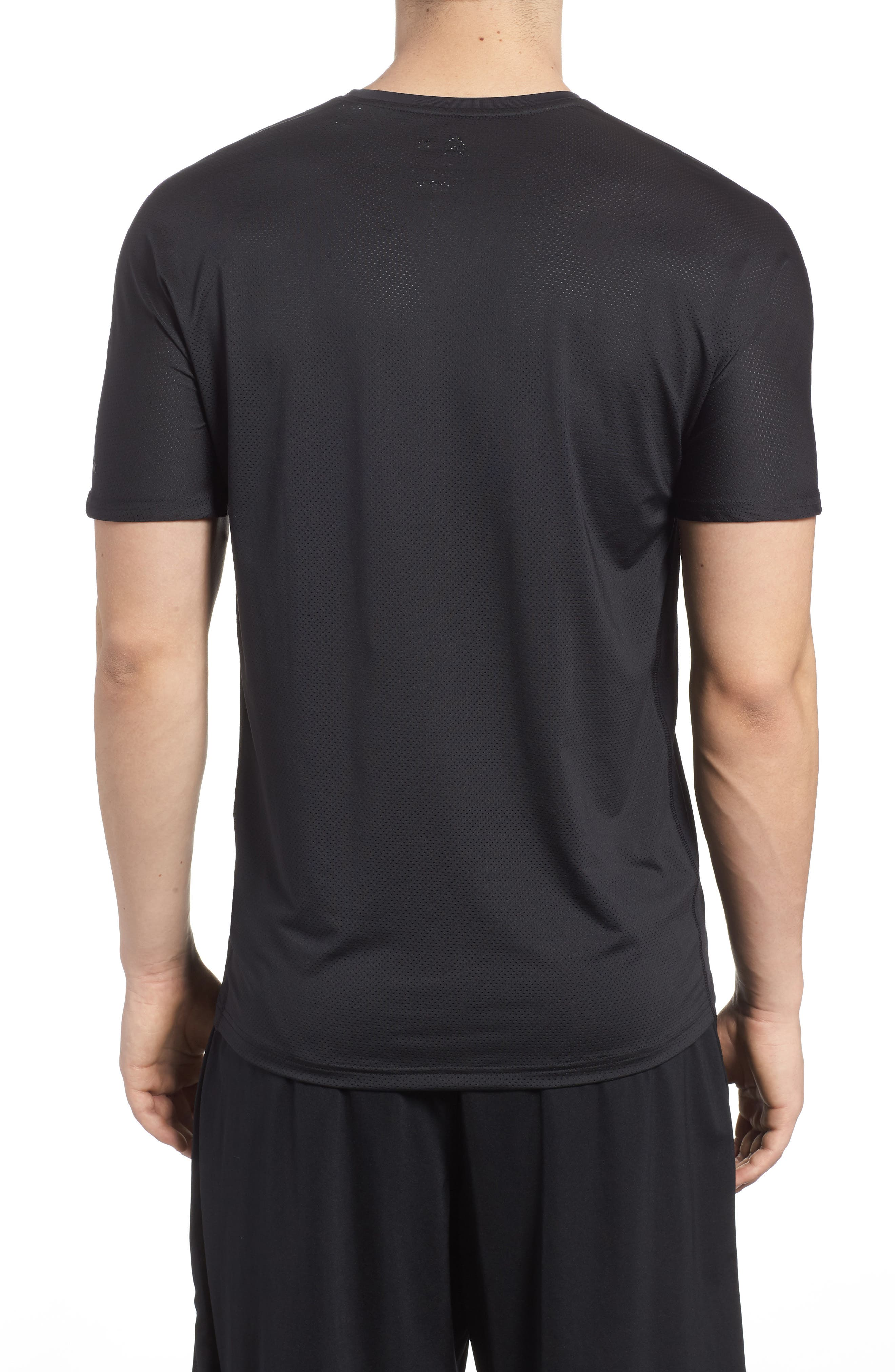 ACTIVCHILL Vent Move Crewneck T-Shirt,                             Alternate thumbnail 2, color,                             Black