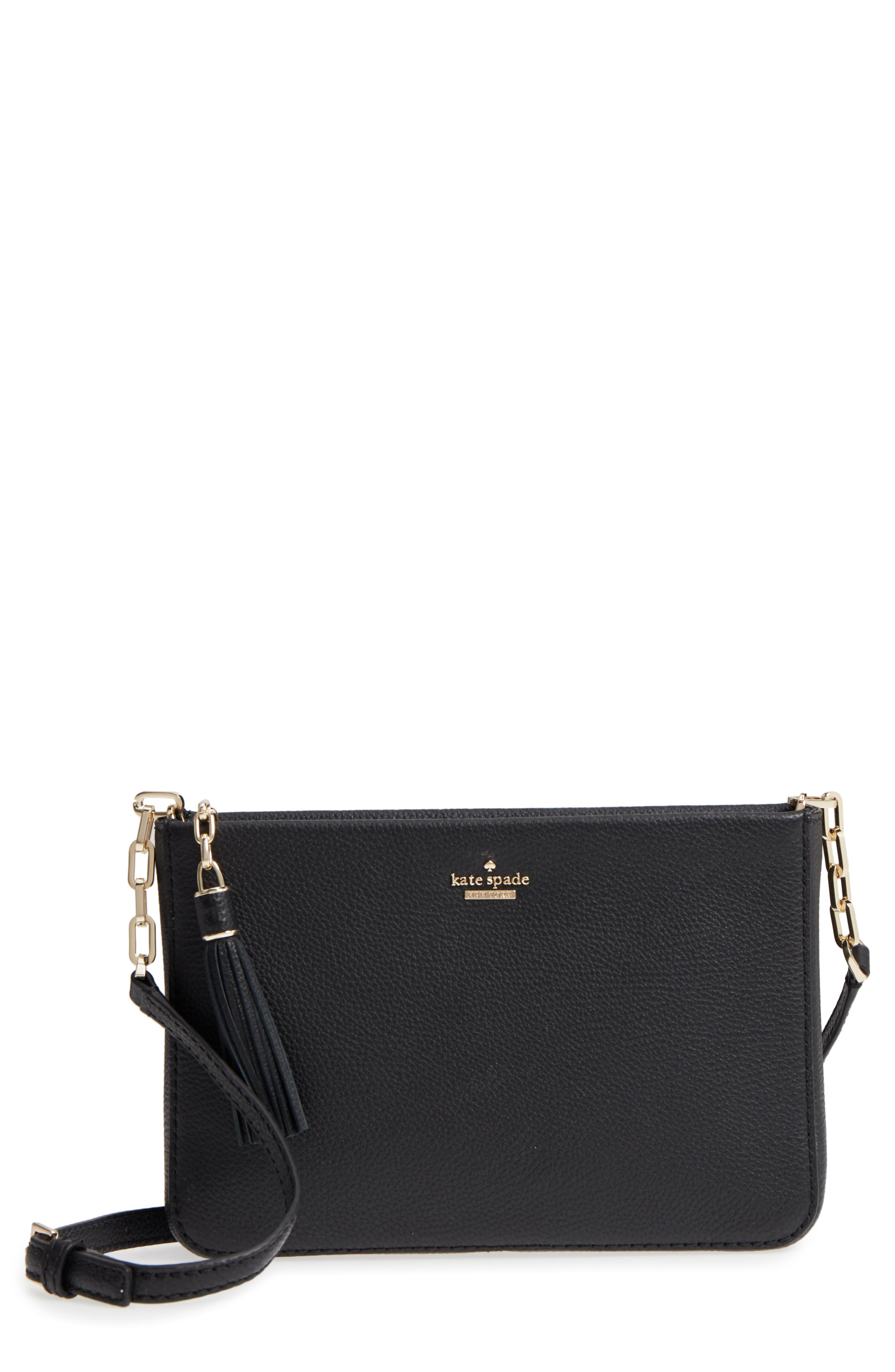kate spade new york kingston drive - alessa leather shoulder/crossbody bag