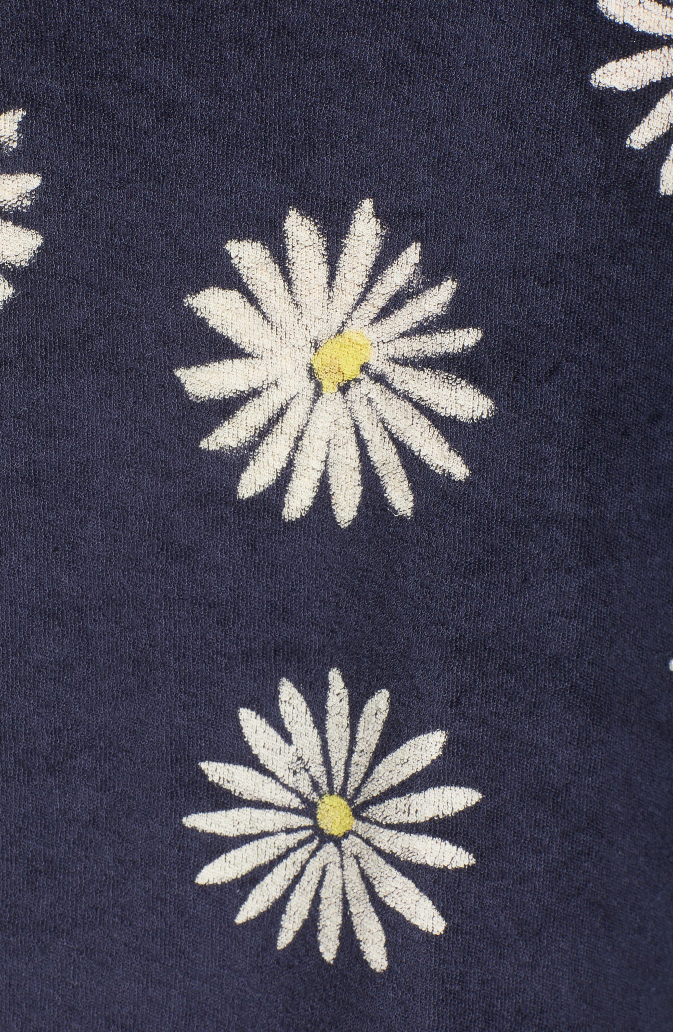 x Margherita Fiore Daisy Sweatshirt,                             Alternate thumbnail 7, color,                             Navy