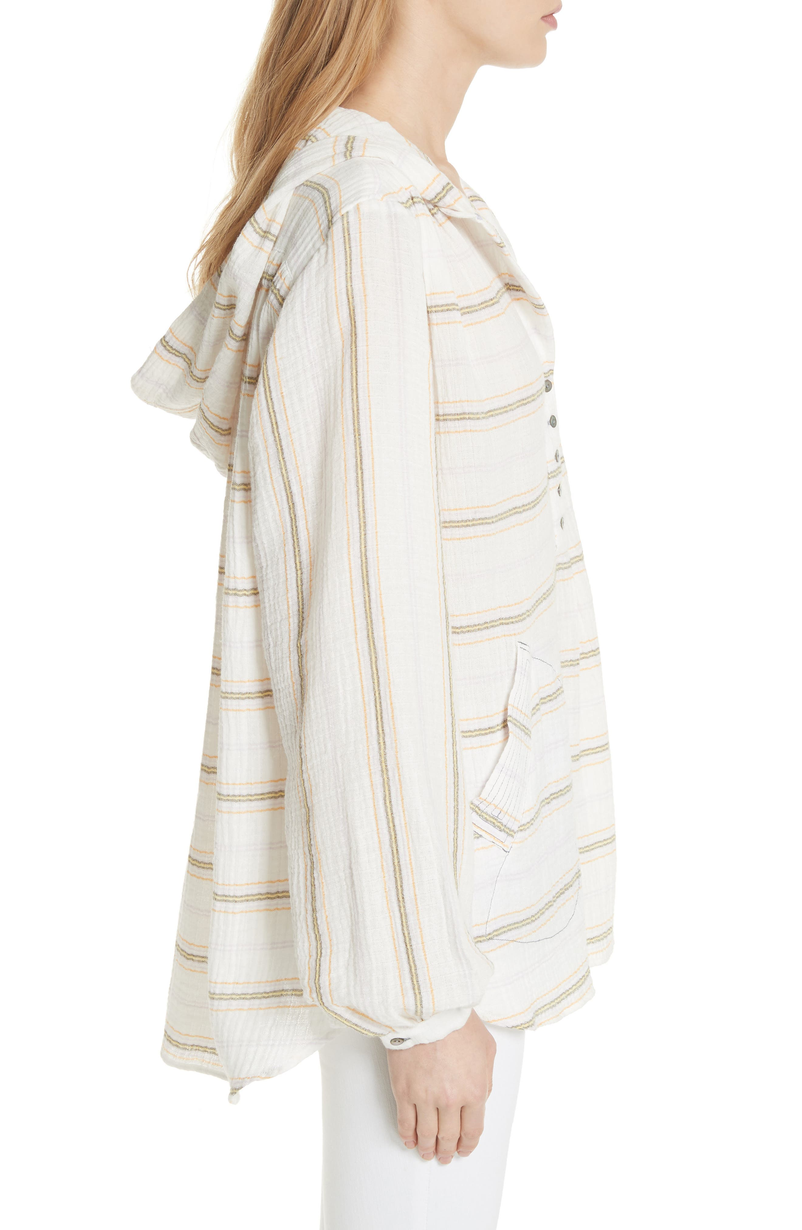 Rolling Clouds Hooded Top,                             Alternate thumbnail 3, color,                             Ivory