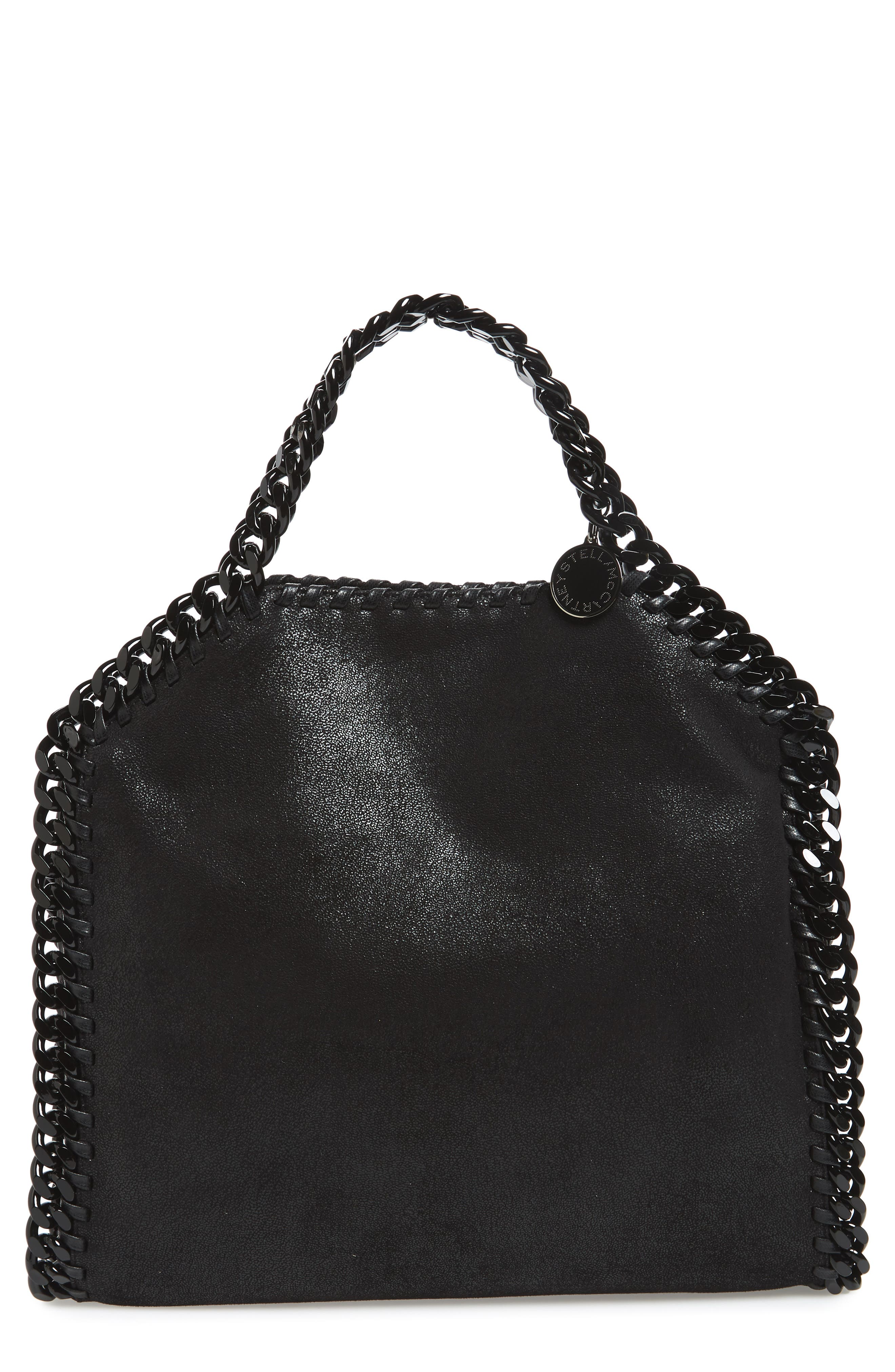 Falabella Shaggy Deer Faux Leather Tote,                         Main,                         color, Black
