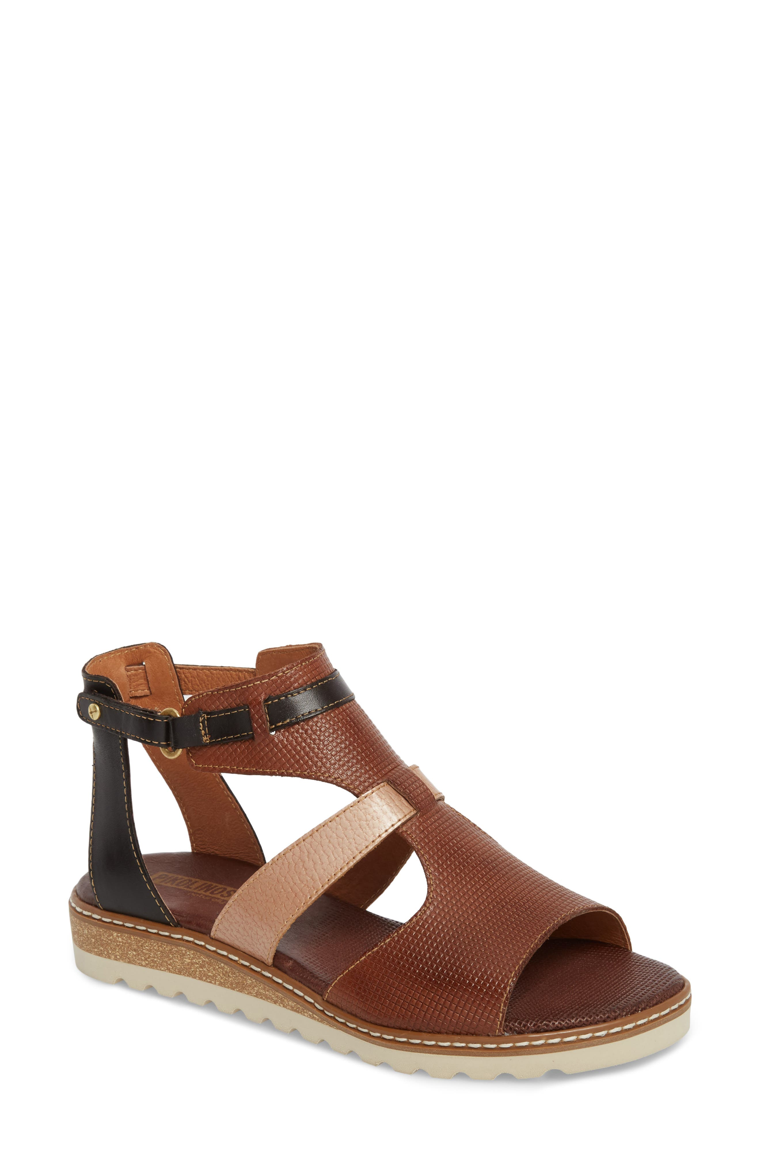 Alcudia Sandal,                             Main thumbnail 1, color,                             Cuero Leather