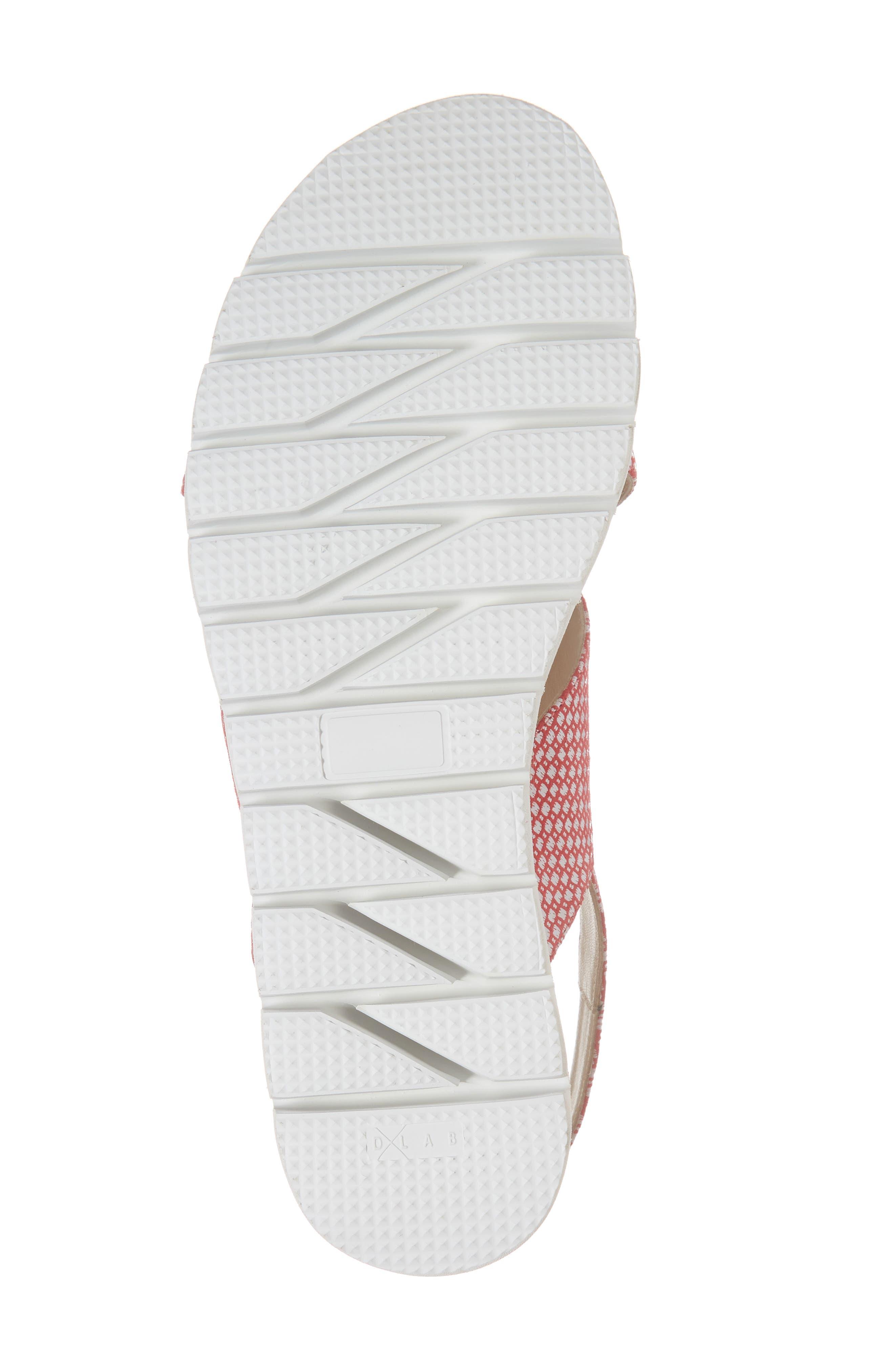 Borgo Sandal,                             Alternate thumbnail 6, color,                             Red/ White Leather