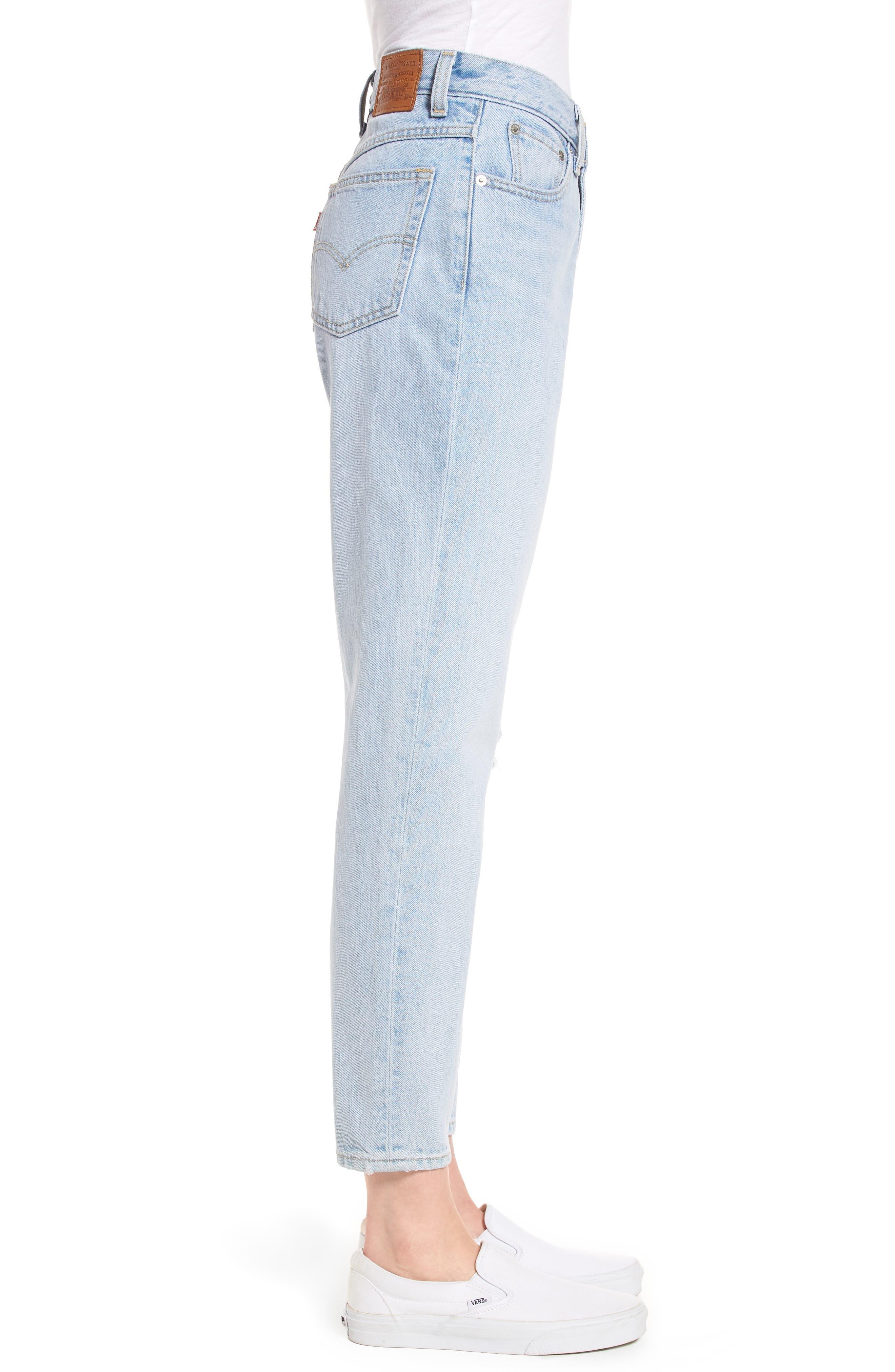 Mom High Waist Jeans,                             Alternate thumbnail 3, color,                             Donna Martin