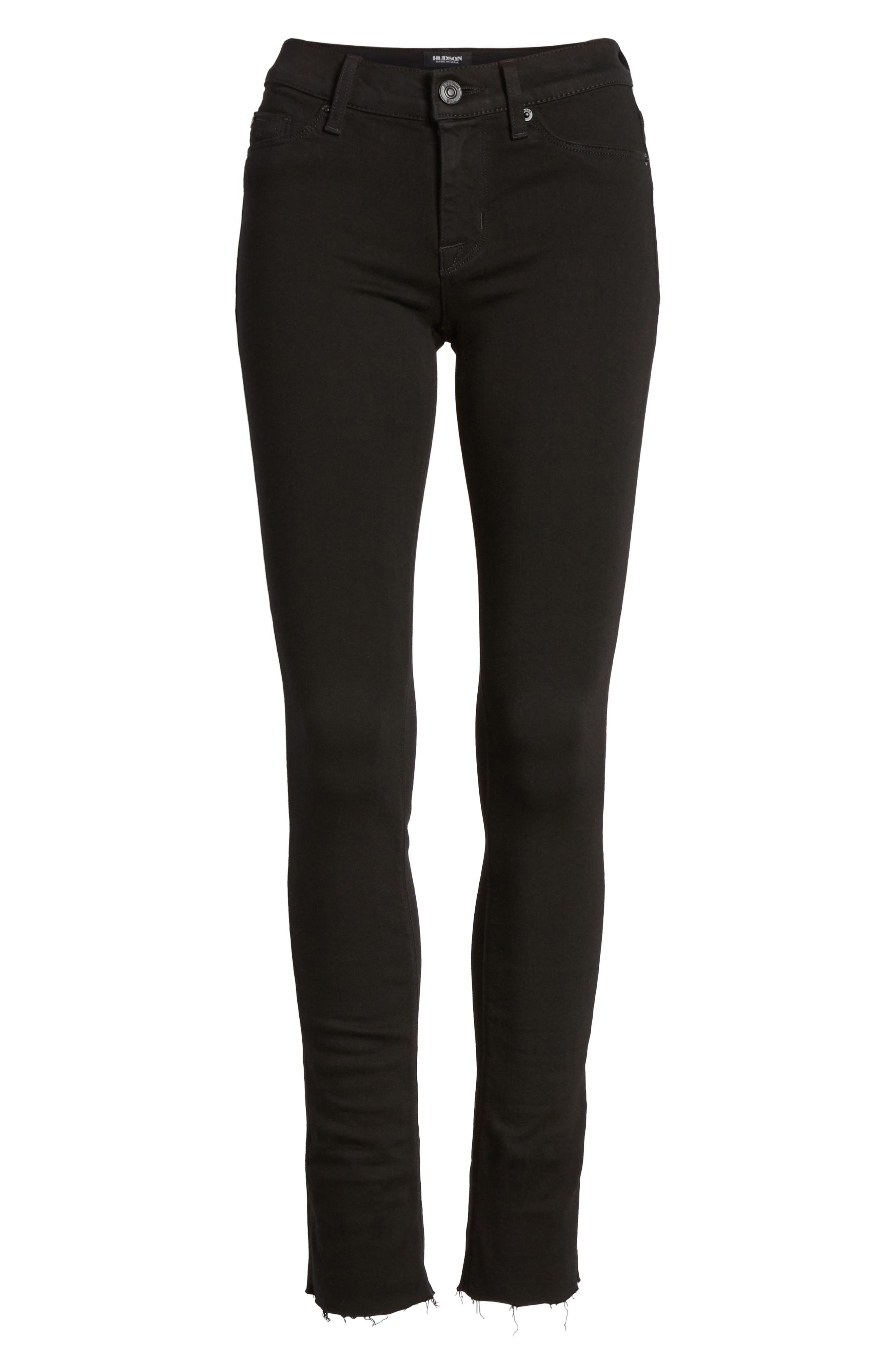 Tally Crop Skinny Jeans,                             Alternate thumbnail 7, color,                             Black