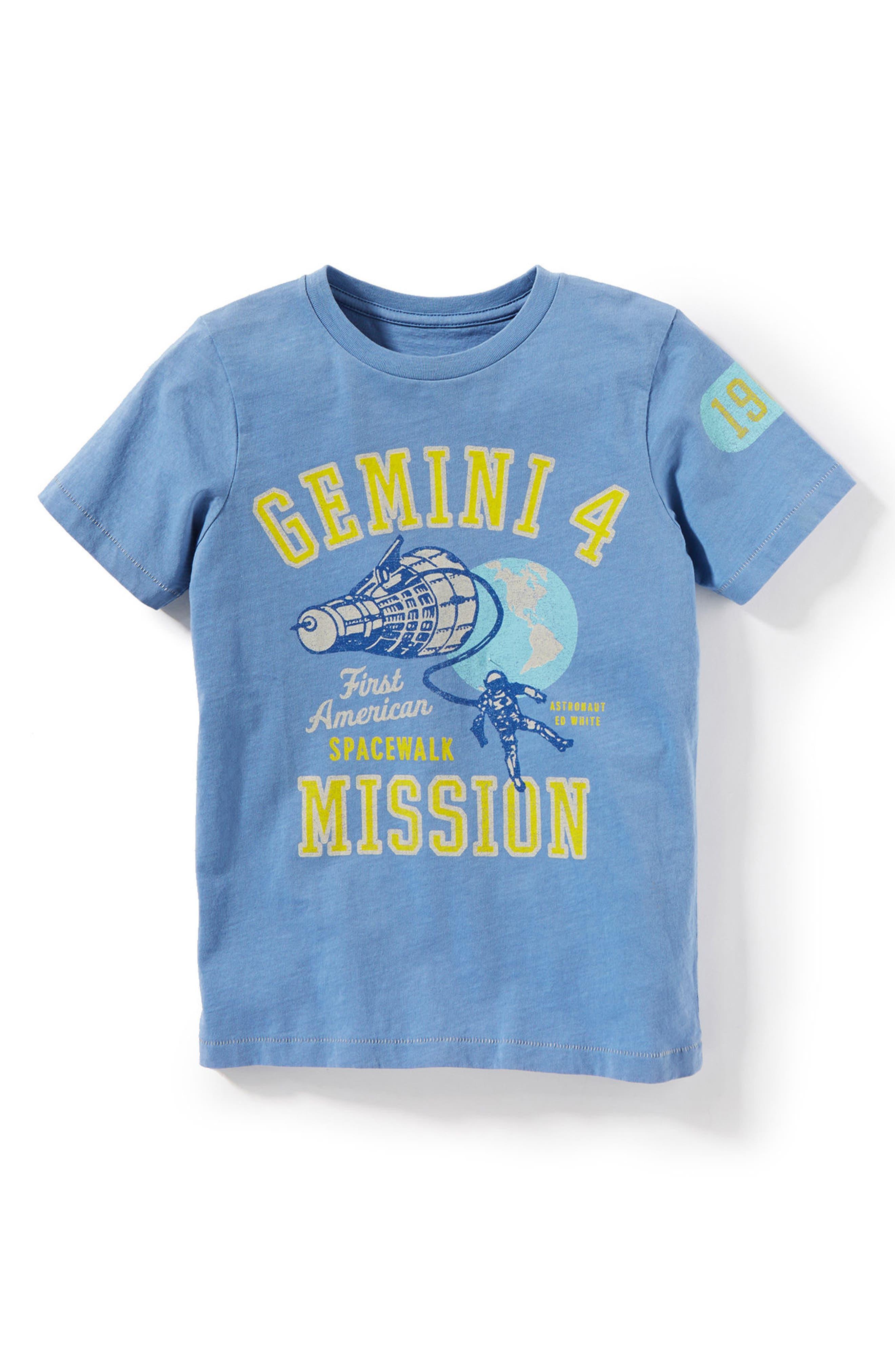 Gemini 4 Graphic T-Shirt,                         Main,                         color, Light Blue