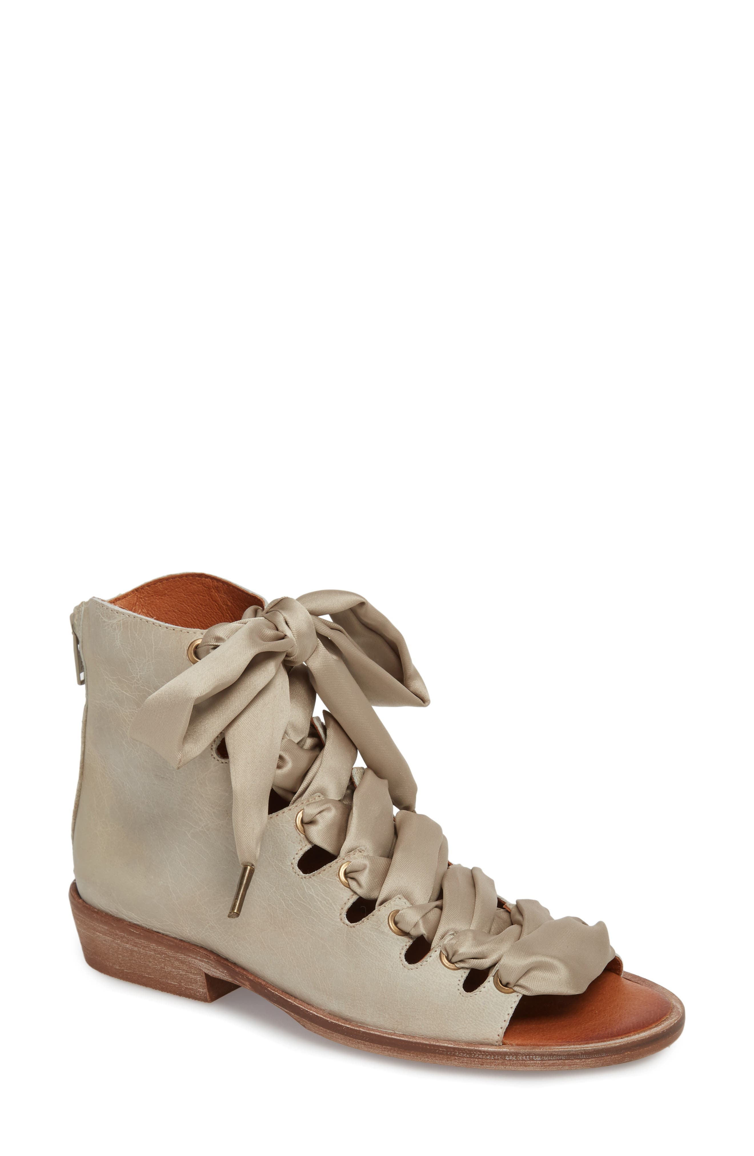Alternate Image 1 Selected - Free People Palms Lace-Up Bootie Sandal (Women)
