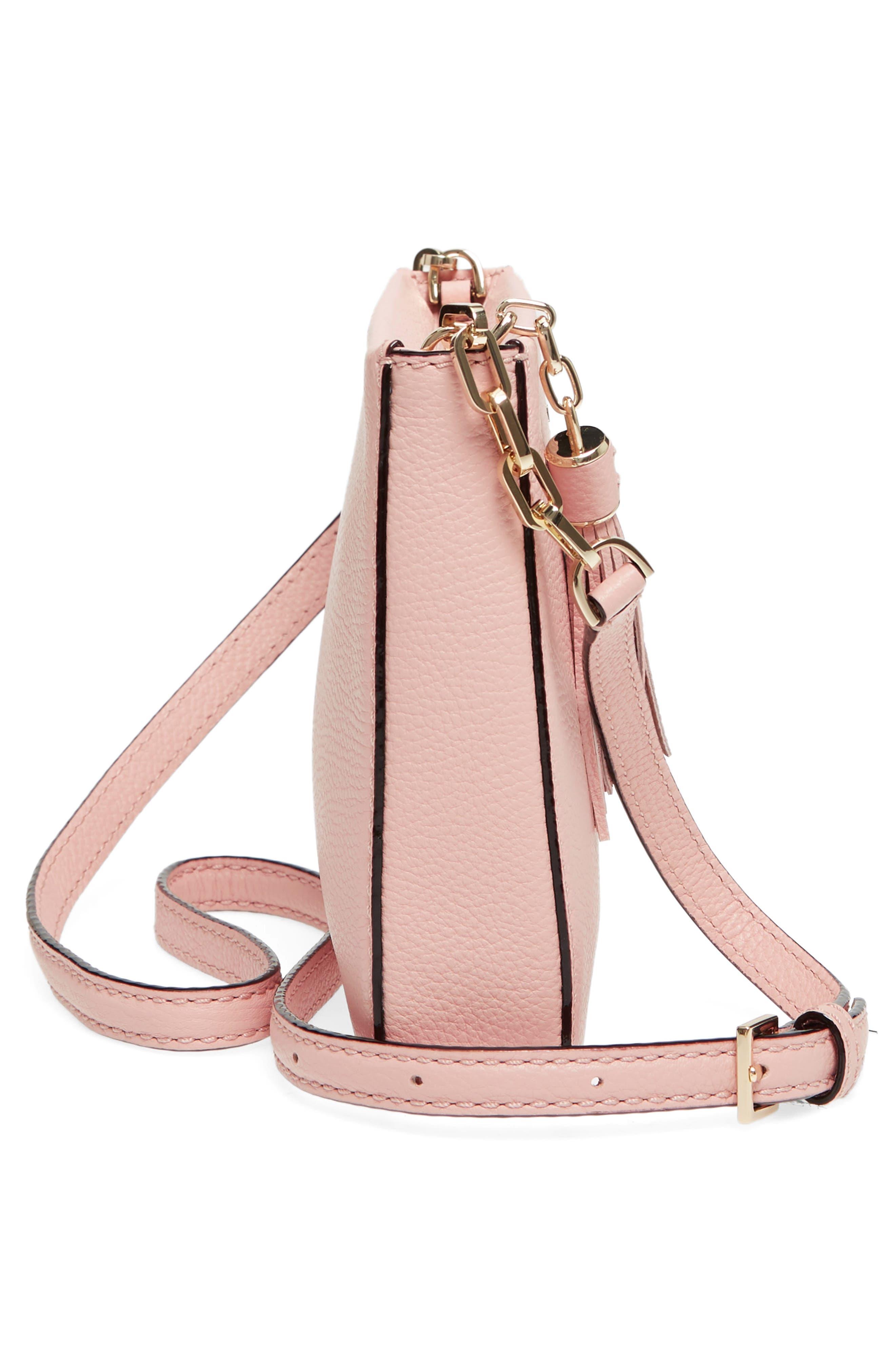 kingston drive - alessa leather shoulder/crossbody bag,                             Alternate thumbnail 5, color,                             Warm Vellum