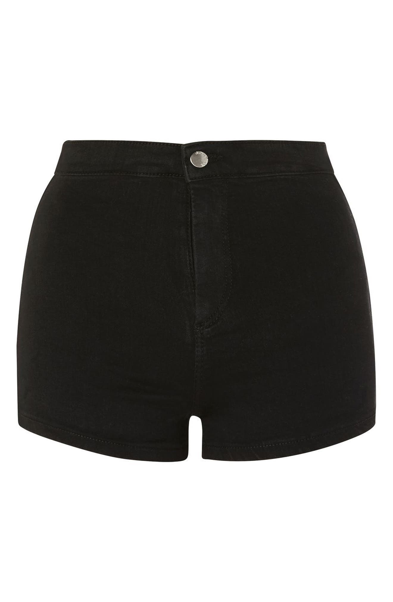 Joni Shorts,                             Alternate thumbnail 3, color,                             Washed Black