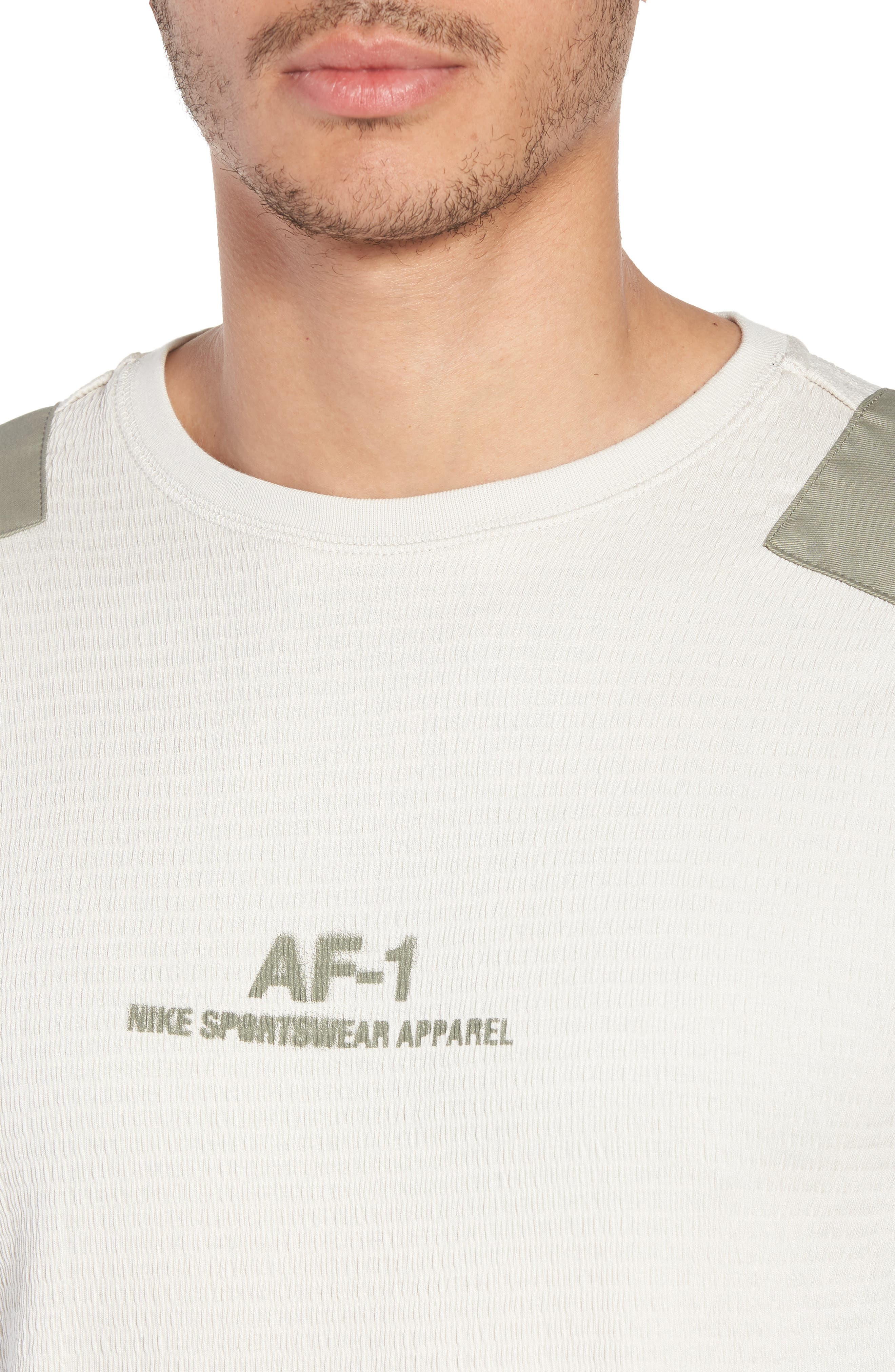 Sportswear AF-1 Long Sleeve Shirt,                             Alternate thumbnail 4, color,                             Light Bone/ Stucco/ Stucco