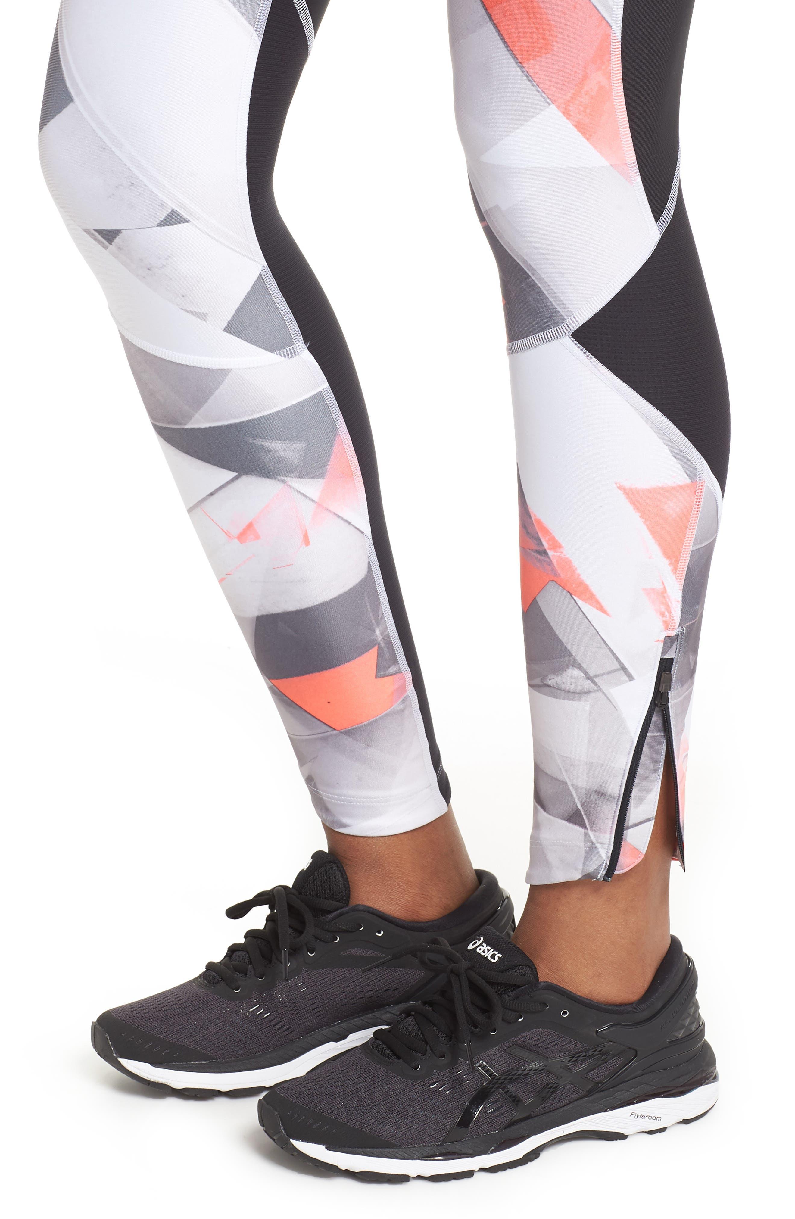 Fly Fast HeatGear<sup>®</sup> Leggings,                             Alternate thumbnail 4, color,                             Black