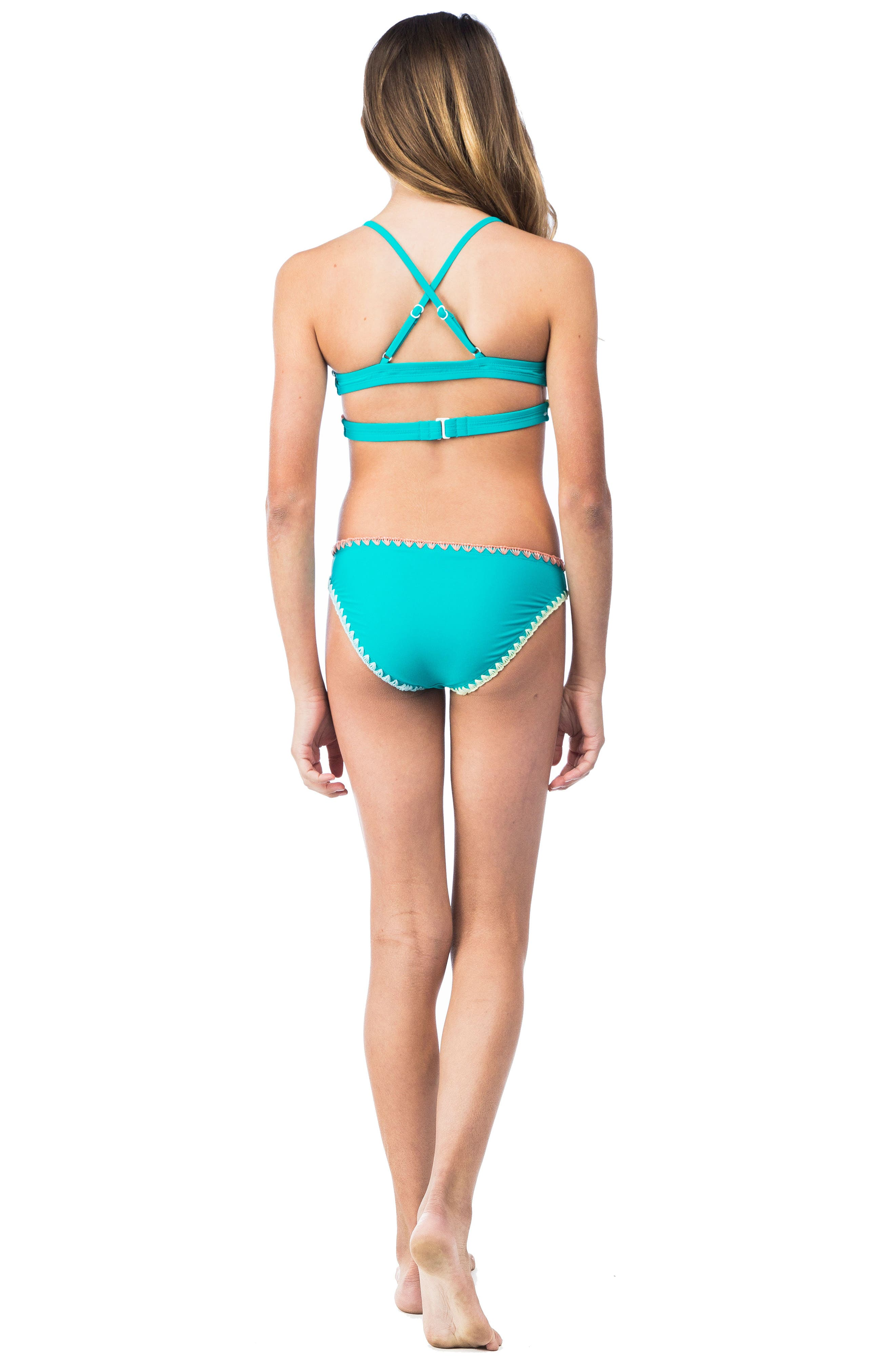 Keep The Piece Two-Piece Swimsuit,                             Alternate thumbnail 4, color,                             Seagreen