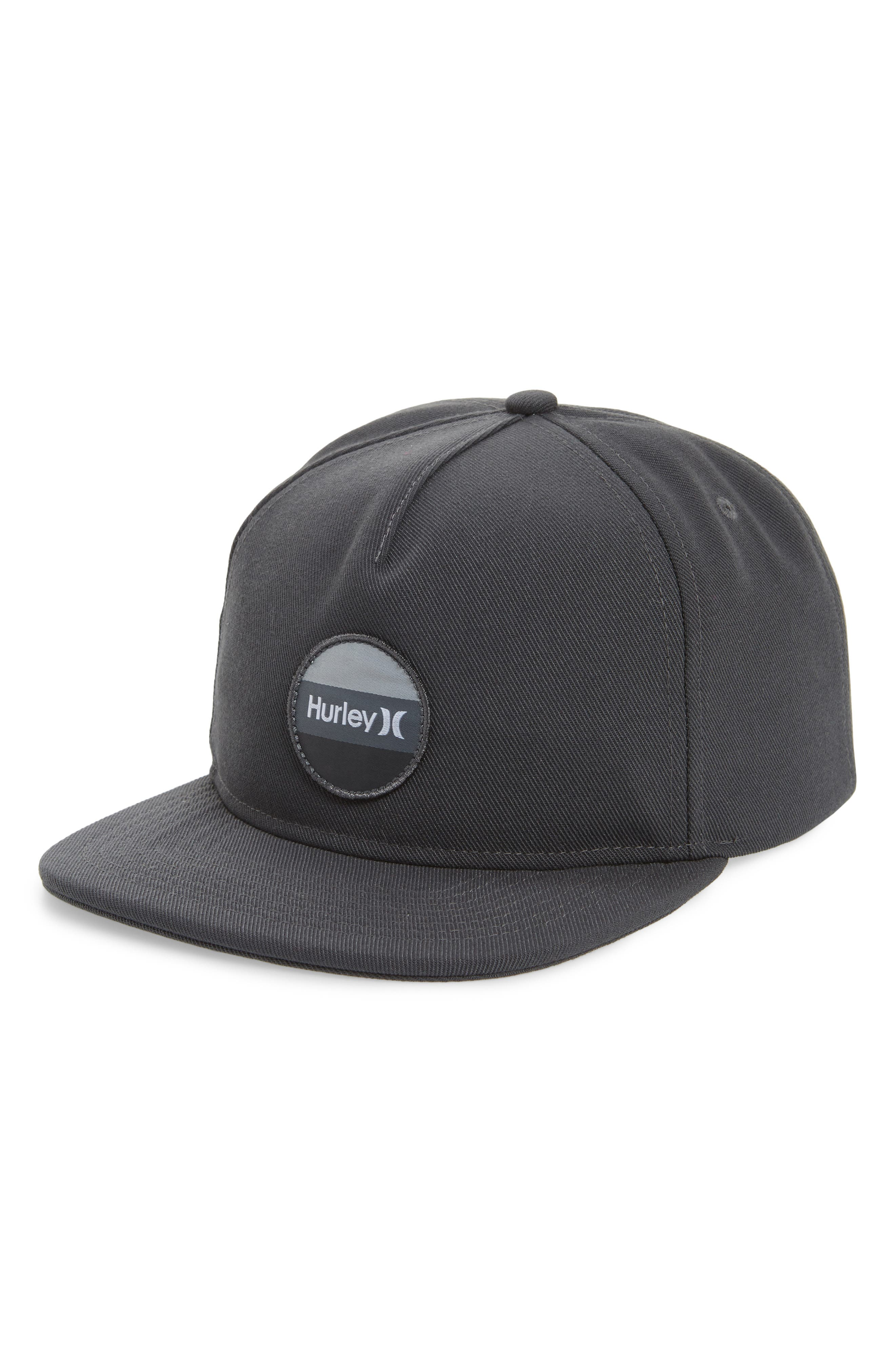 Circular Logo Patch Hat,                         Main,                         color, Anthracite