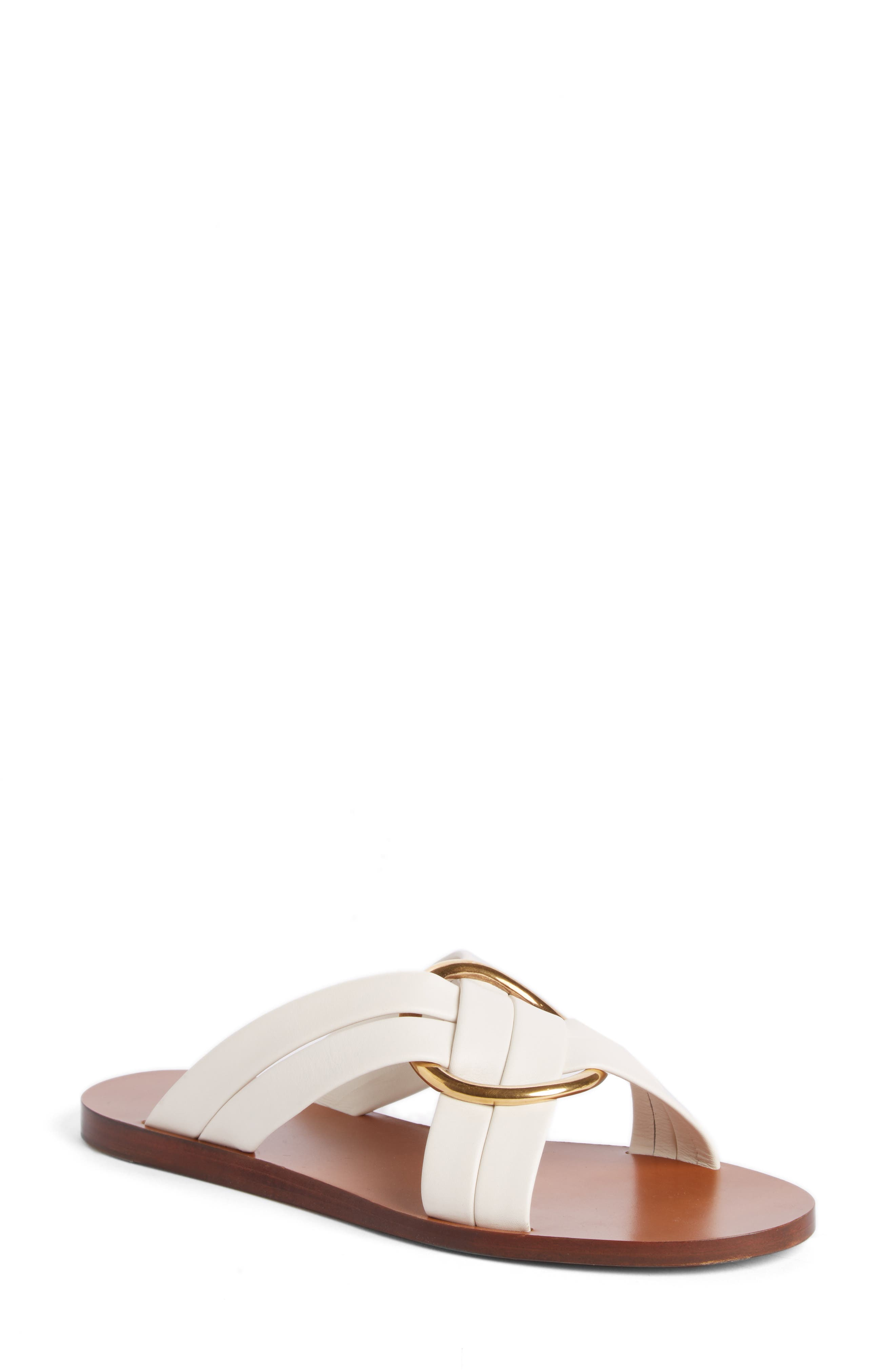 Chloé Rony Crisscross Flat Sandal (Women)