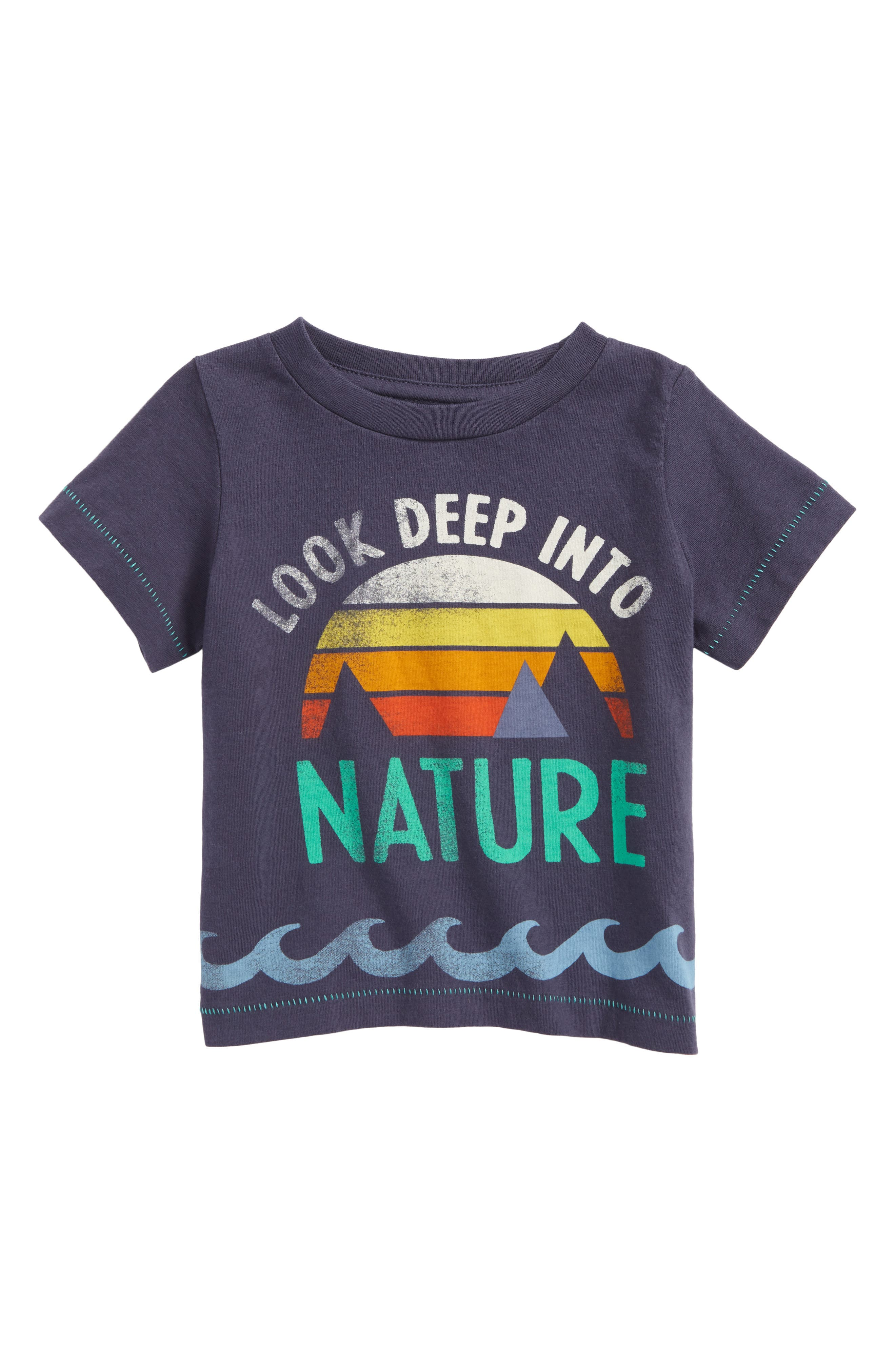 Look Deep into Nature Graphic T-Shirt,                         Main,                         color, Navy