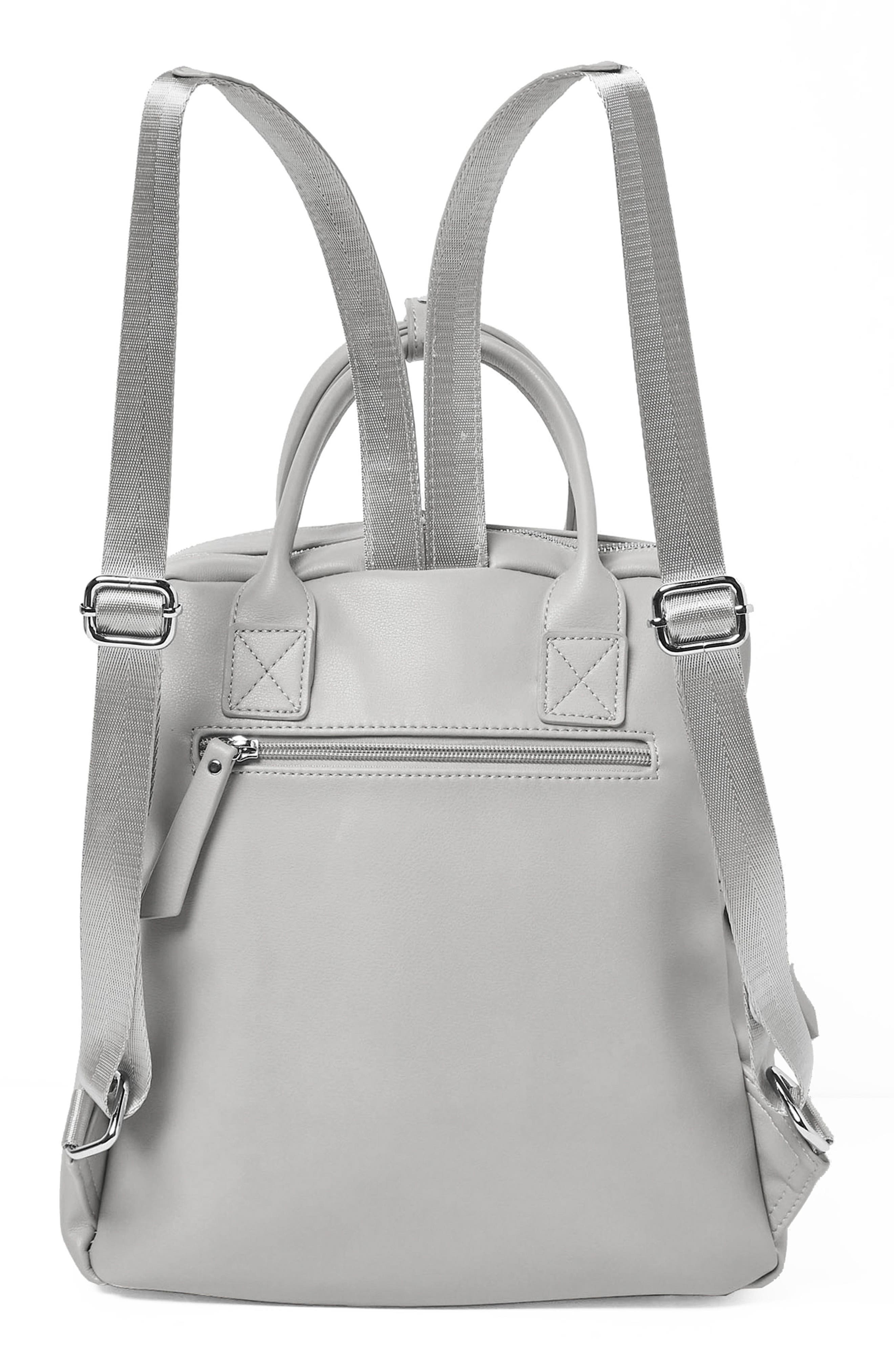 Over Exposure Vegan Leather Backpack,                             Alternate thumbnail 2, color,                             Grey