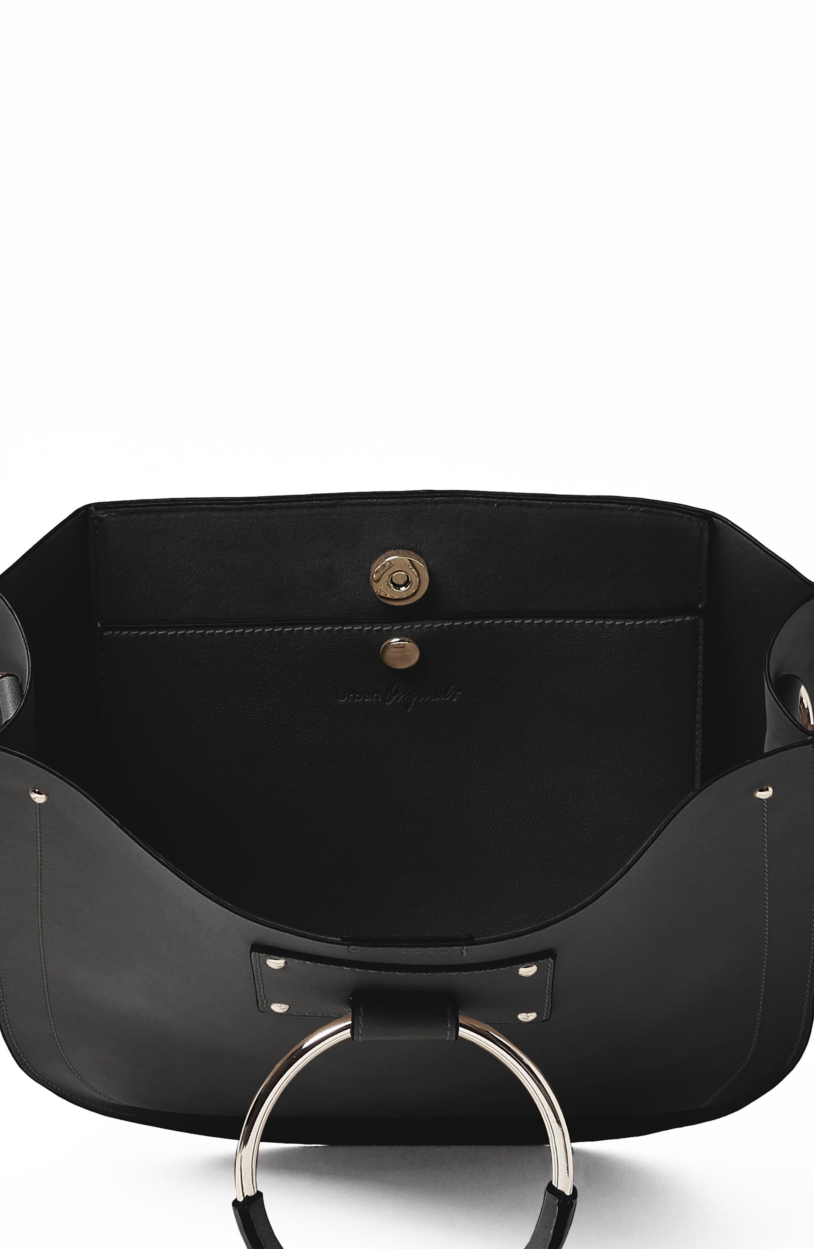 Nordic Dream Vegan Leather Shoulder Bag,                             Alternate thumbnail 2, color,                             Black