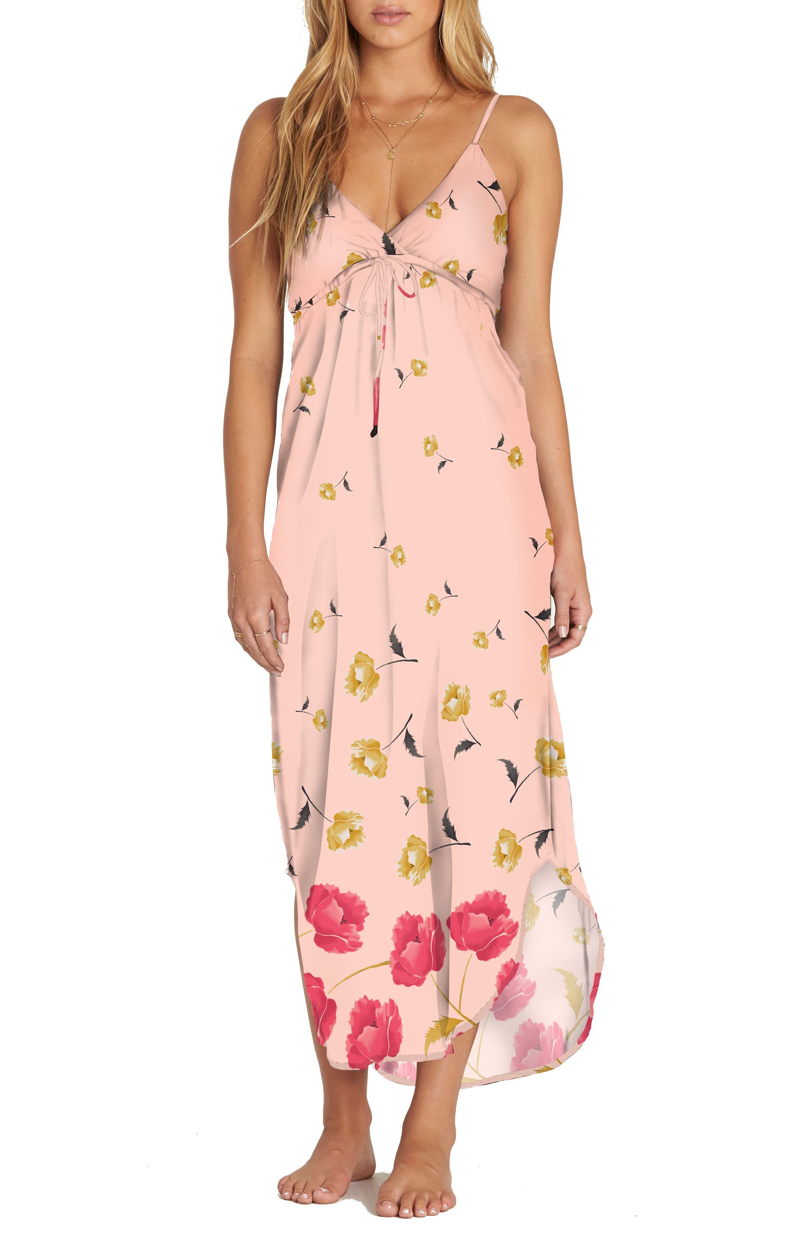 Like Minded Print Maxi Dress,                             Main thumbnail 1, color,                             Peaches