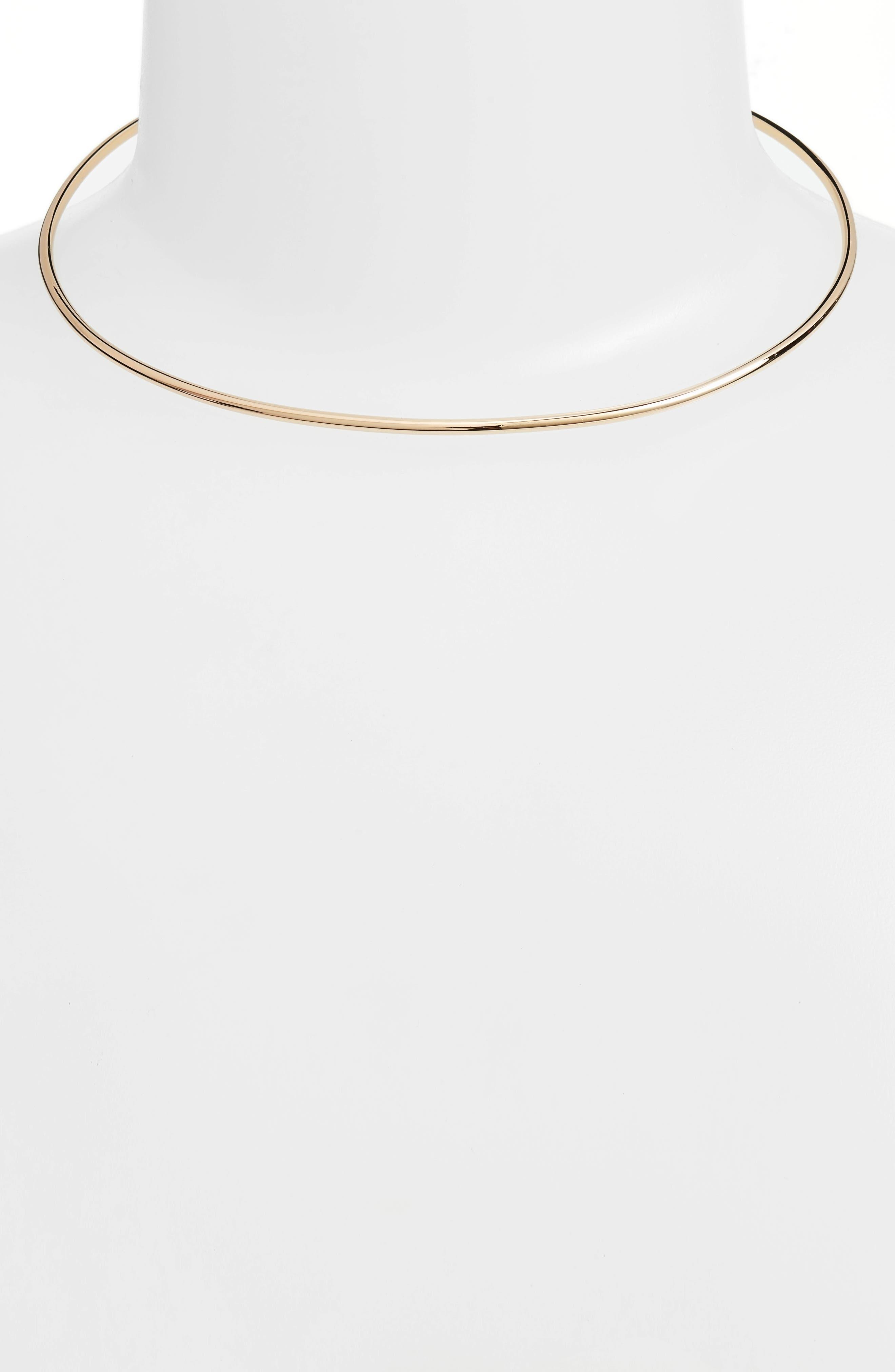 Vada Collar Necklace,                             Main thumbnail 1, color,                             Gold
