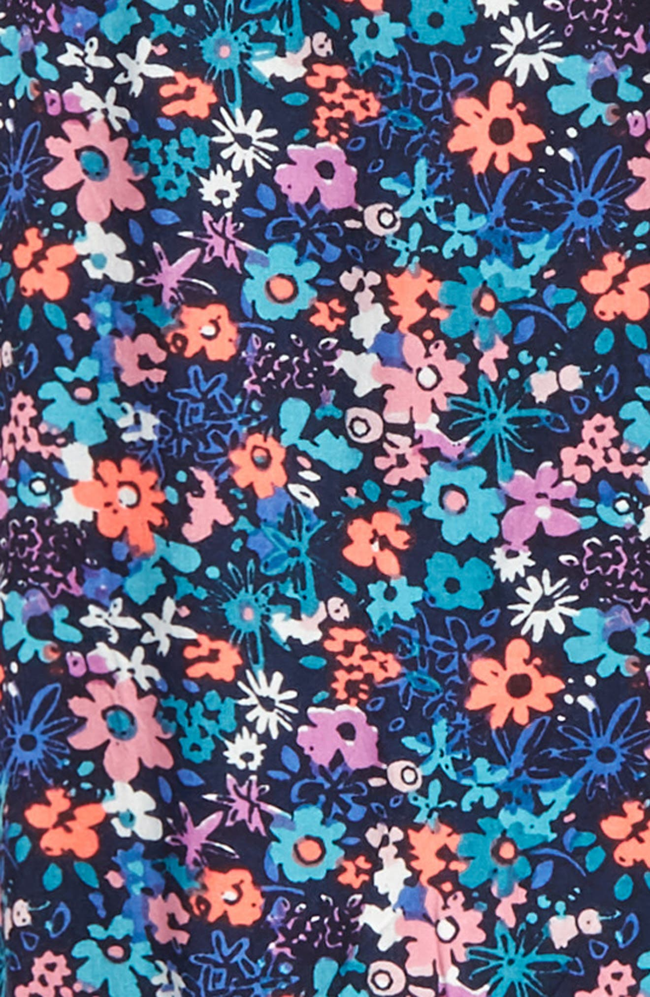 Carmen Flutter Sleeve Romper,                             Alternate thumbnail 2, color,                             Navy