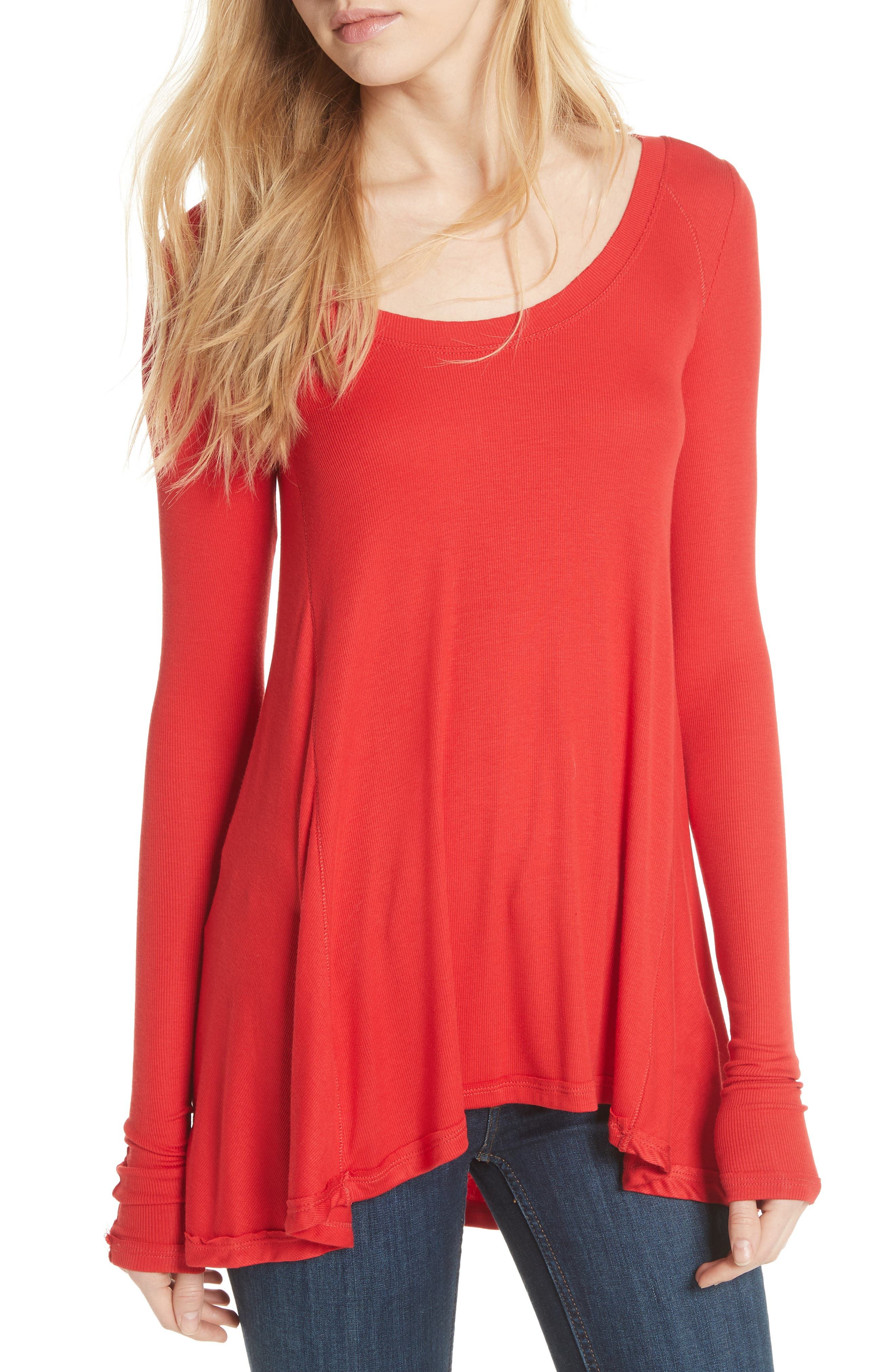 January Tee,                         Main,                         color, Red
