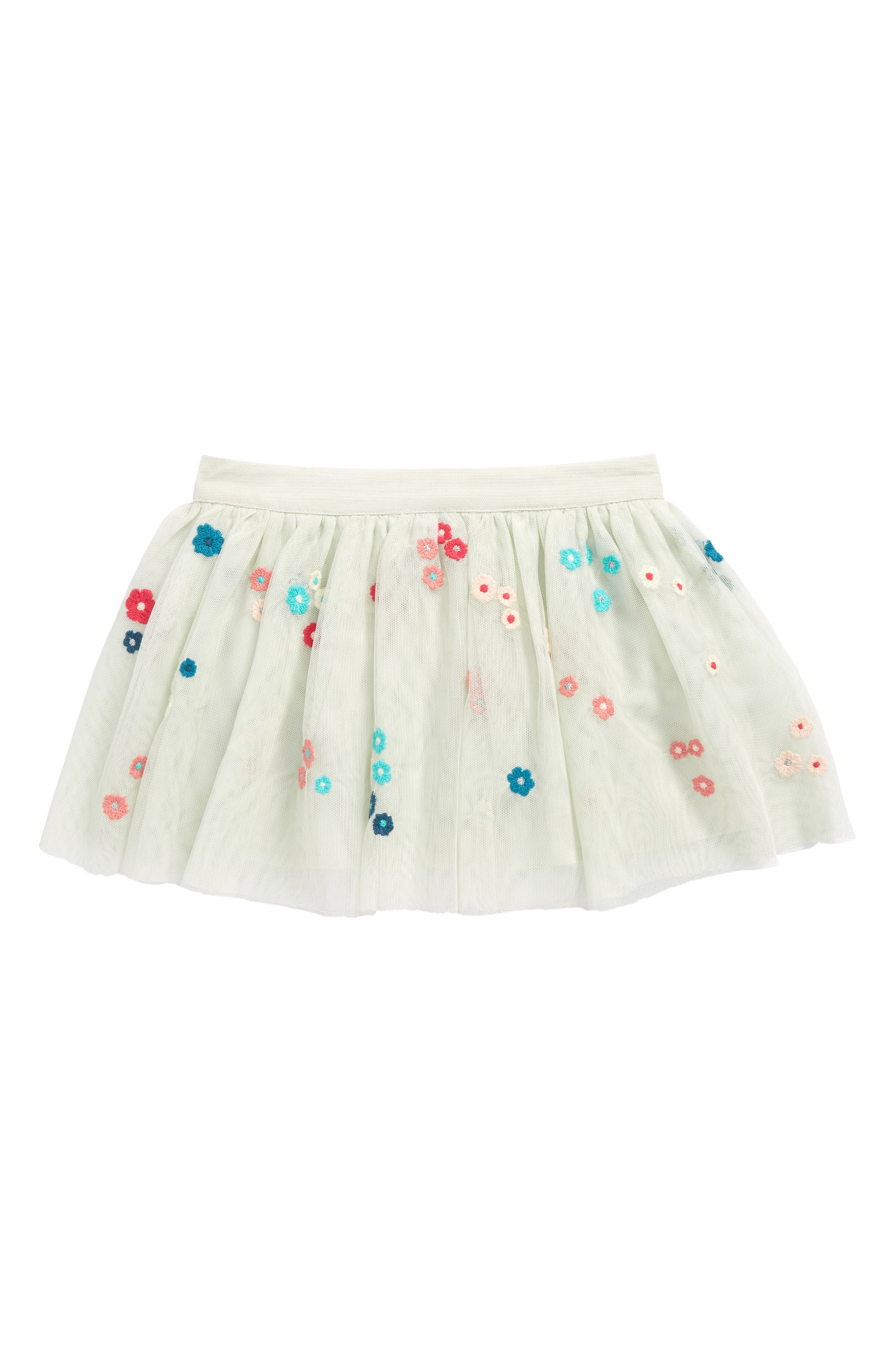 Victoria Embroidered Mesh Skirt,                         Main,                         color, Mint