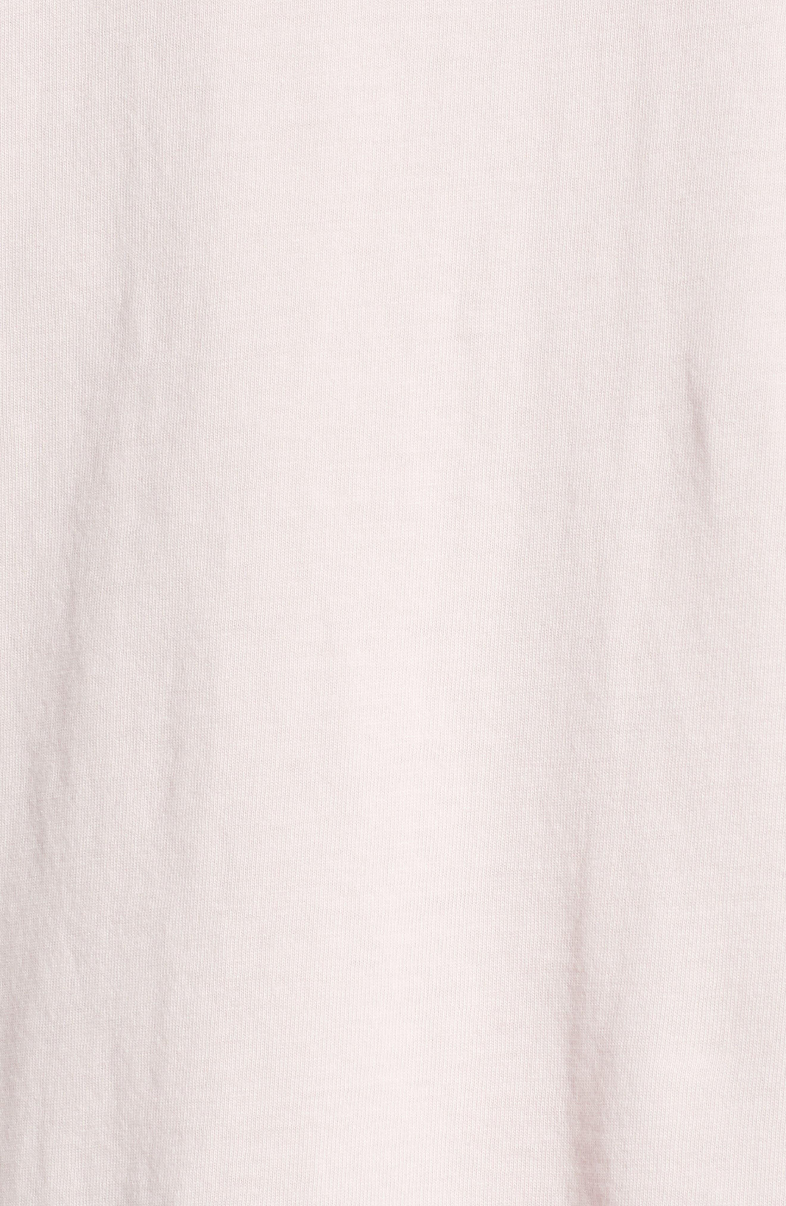 Classic Crewneck T-Shirt,                             Alternate thumbnail 5, color,                             Pink Ash