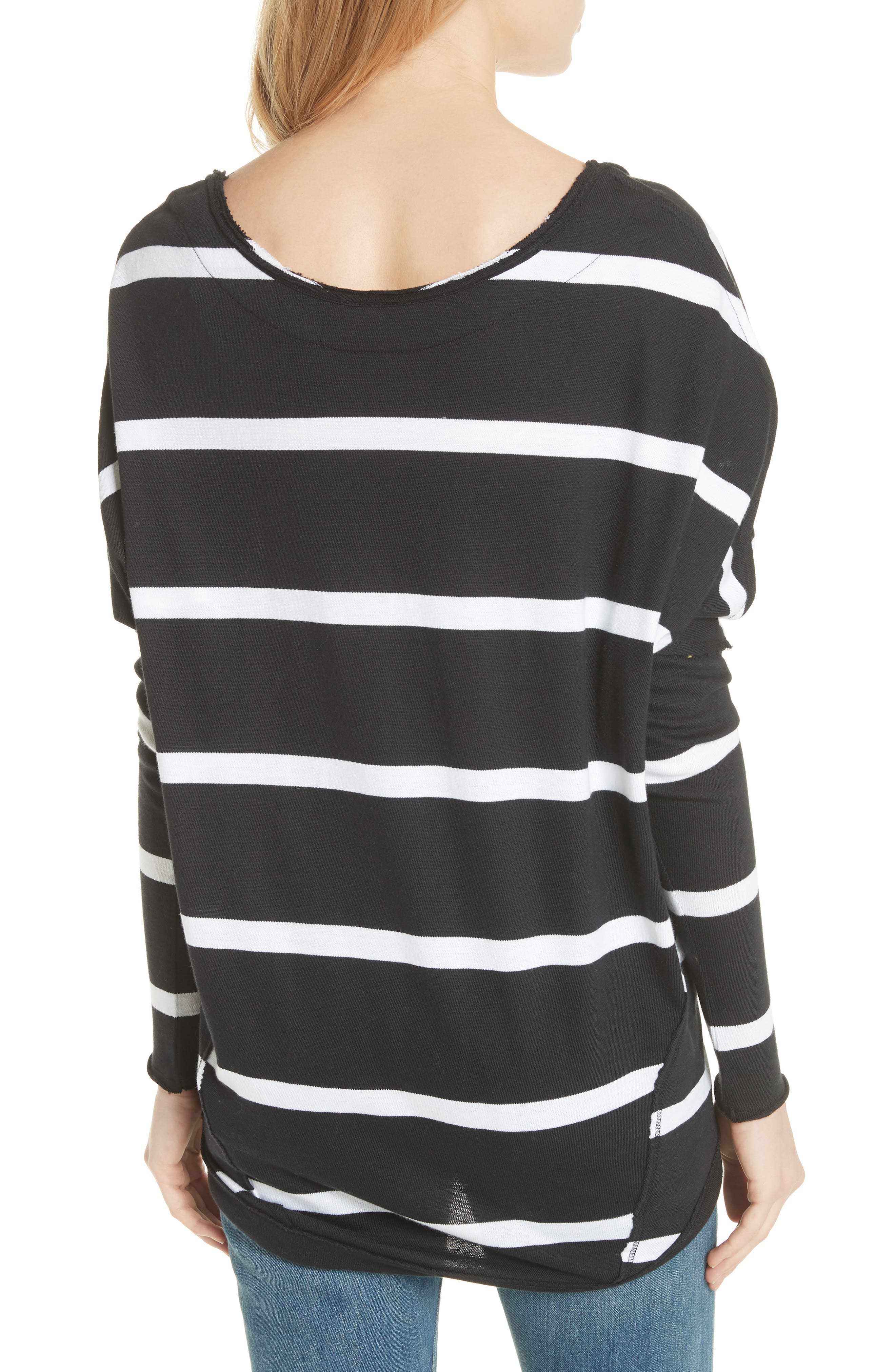 Upstate Stripe Tee,                             Alternate thumbnail 2, color,                             Onyx Combo