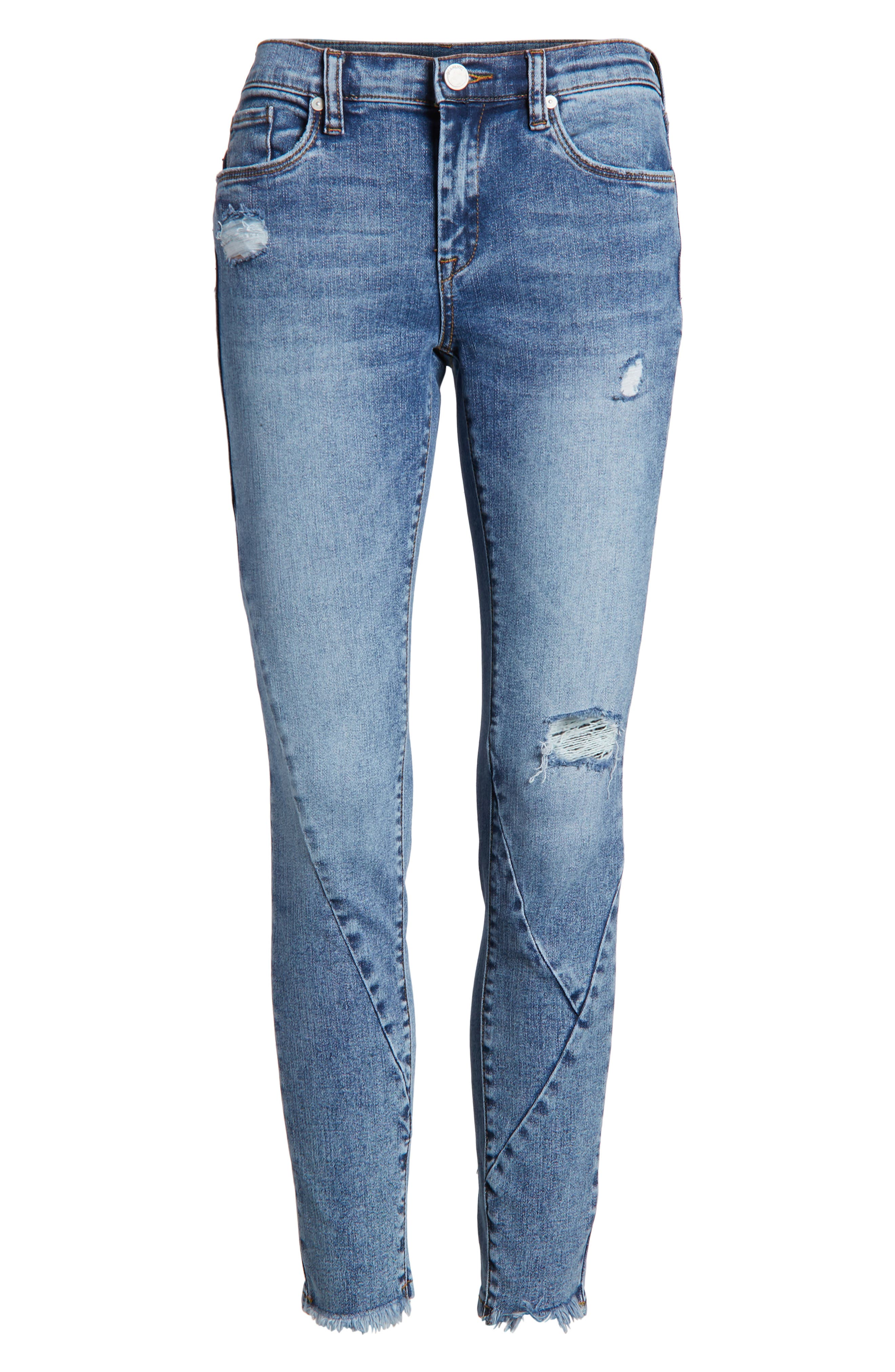 The Reade Seam Detail Skinny Jeans,                             Alternate thumbnail 7, color,                             Burn Notice