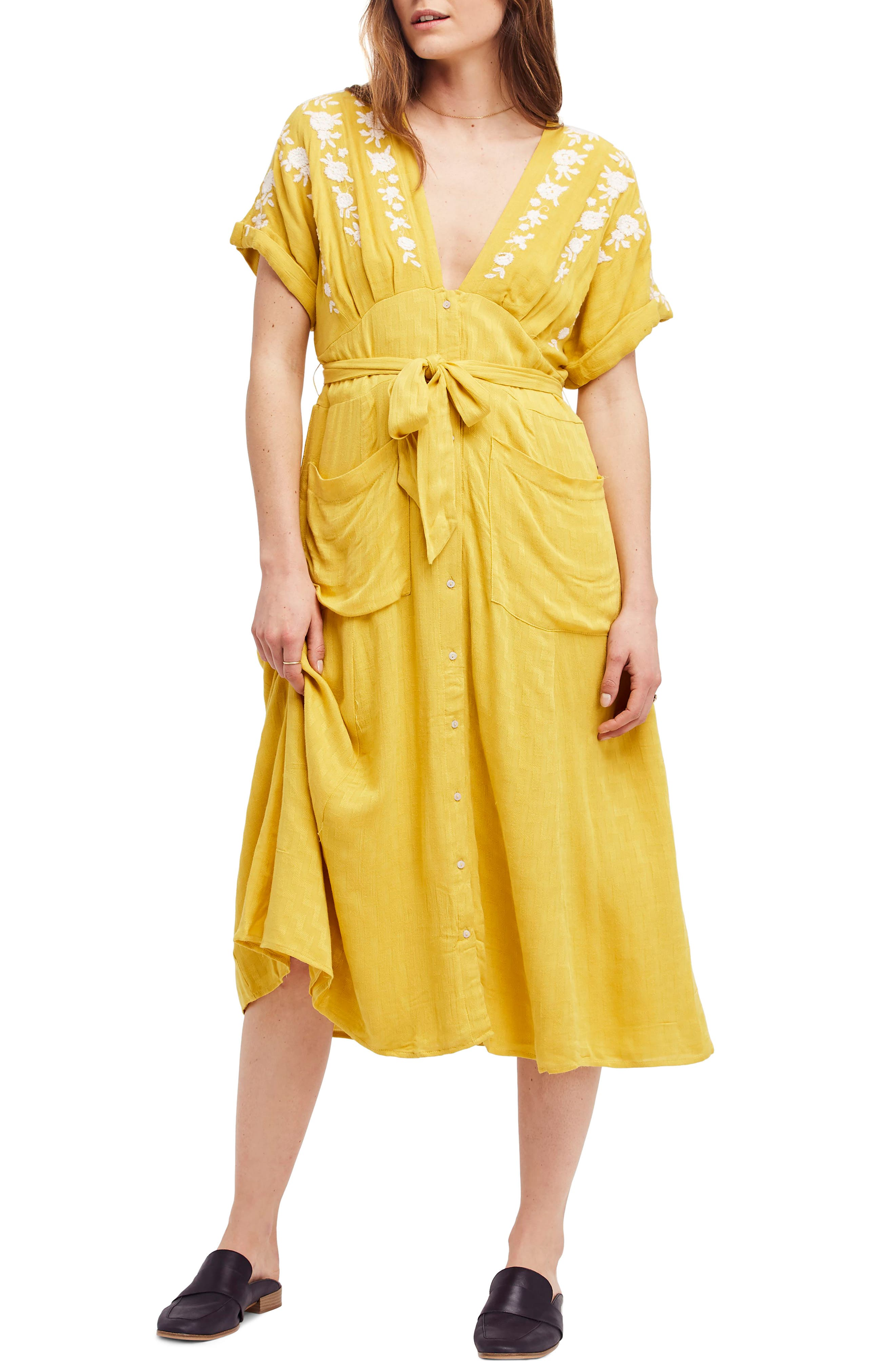 Love to Love You Dress,                             Main thumbnail 1, color,                             Yellow