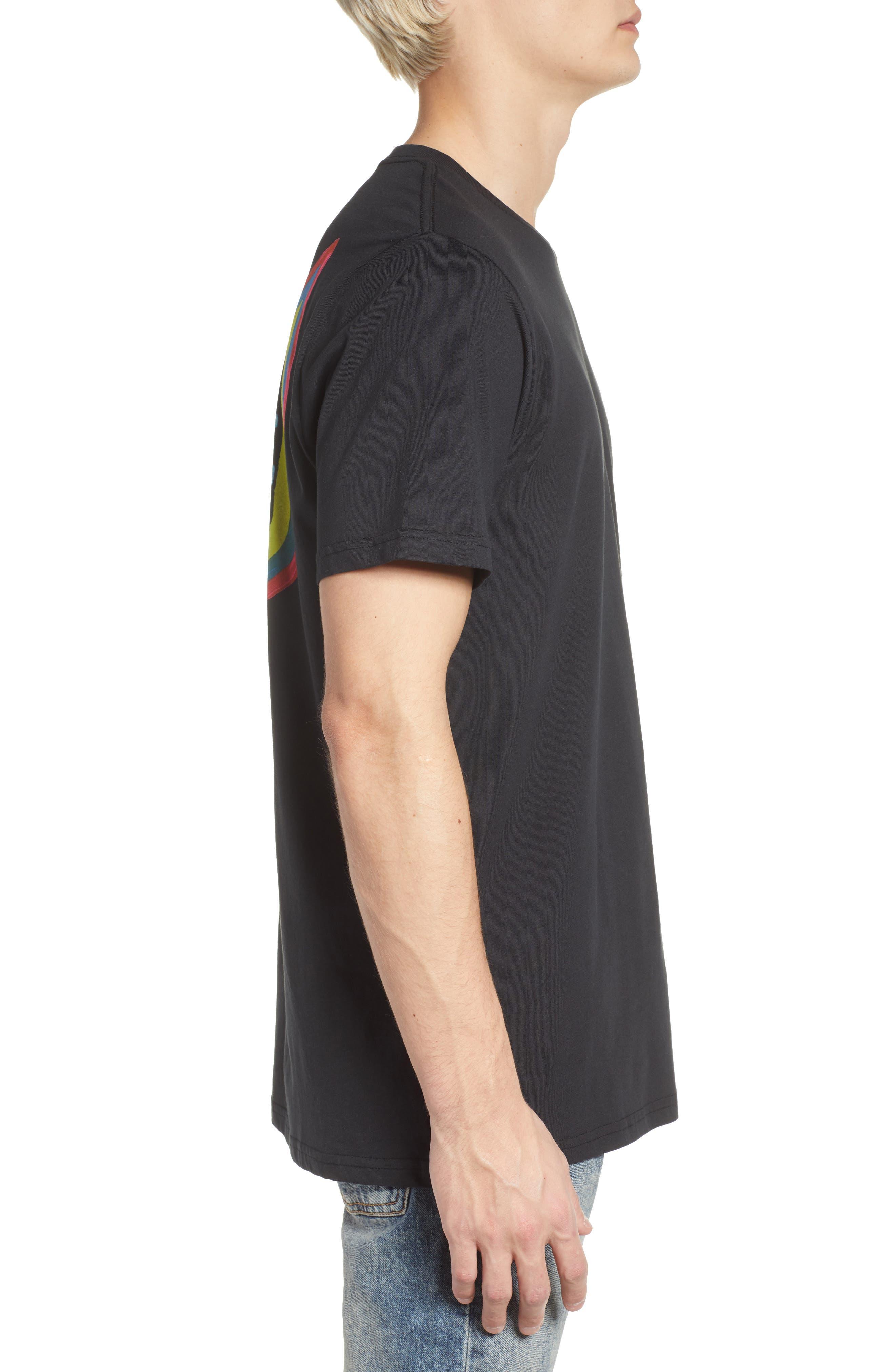 New Shield Graphic T-Shirt,                             Alternate thumbnail 3, color,                             Black