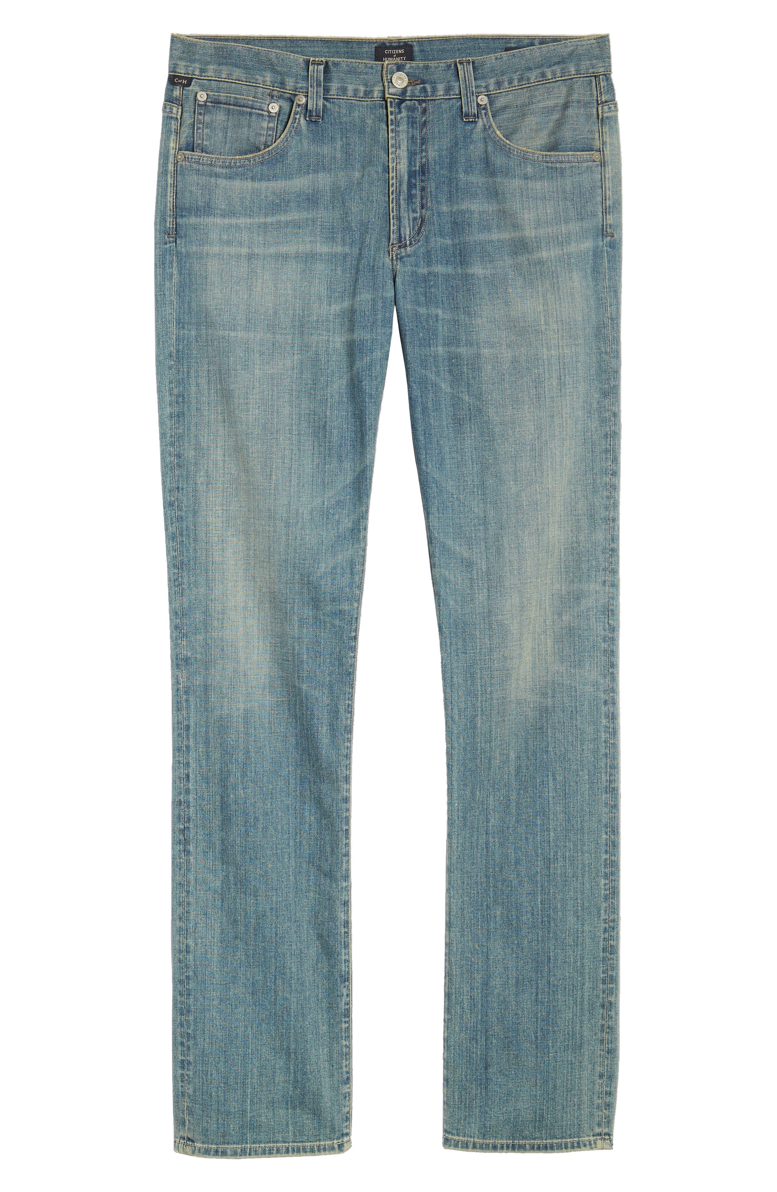 Gage Slim Straight Leg Jeans,                             Alternate thumbnail 6, color,                             Adler