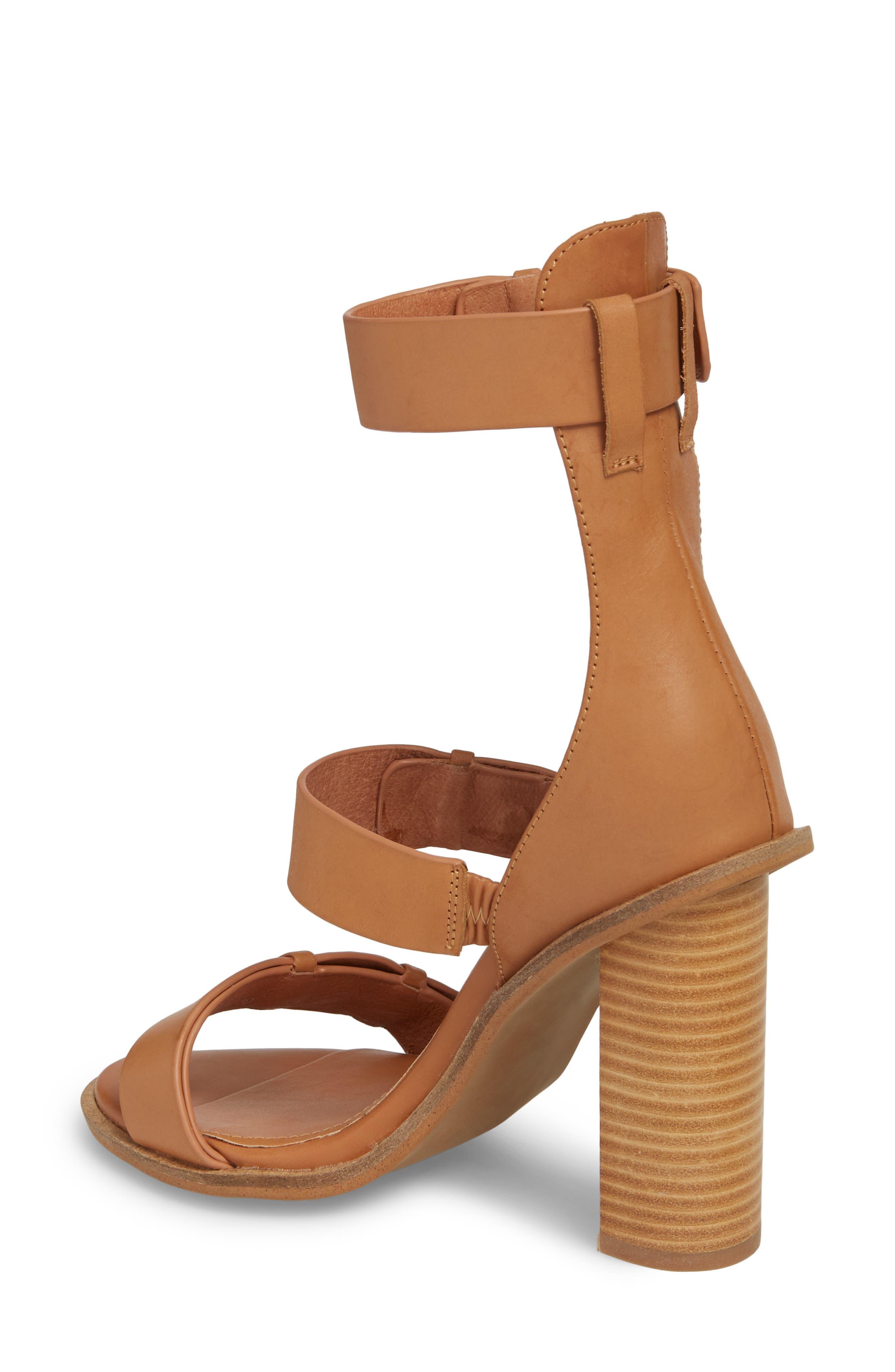 Adore Tall Cuffed Sandal,                             Alternate thumbnail 2, color,                             Light Tan Leather