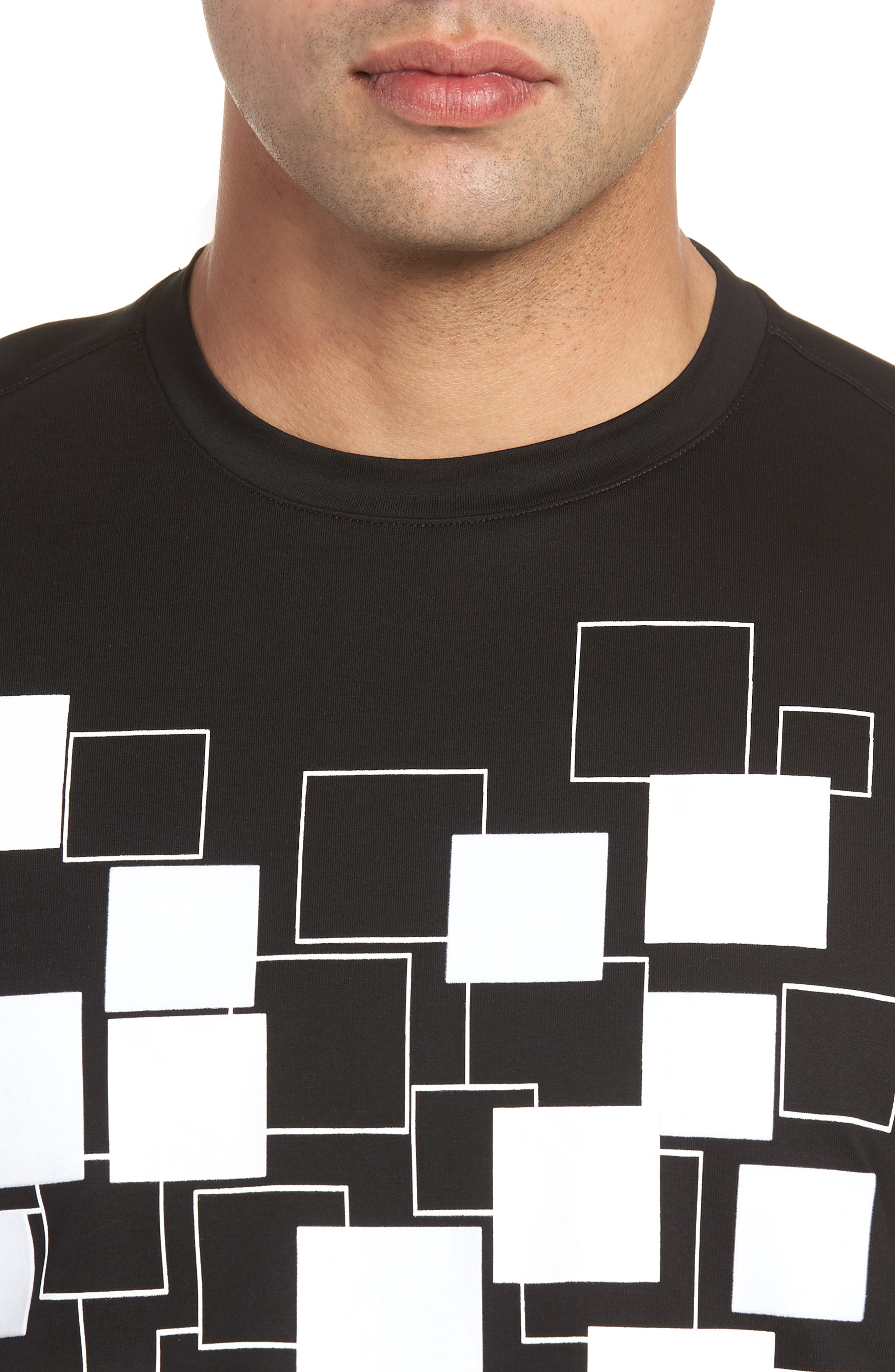 Crewneck T-Shirt,                             Alternate thumbnail 4, color,                             Black