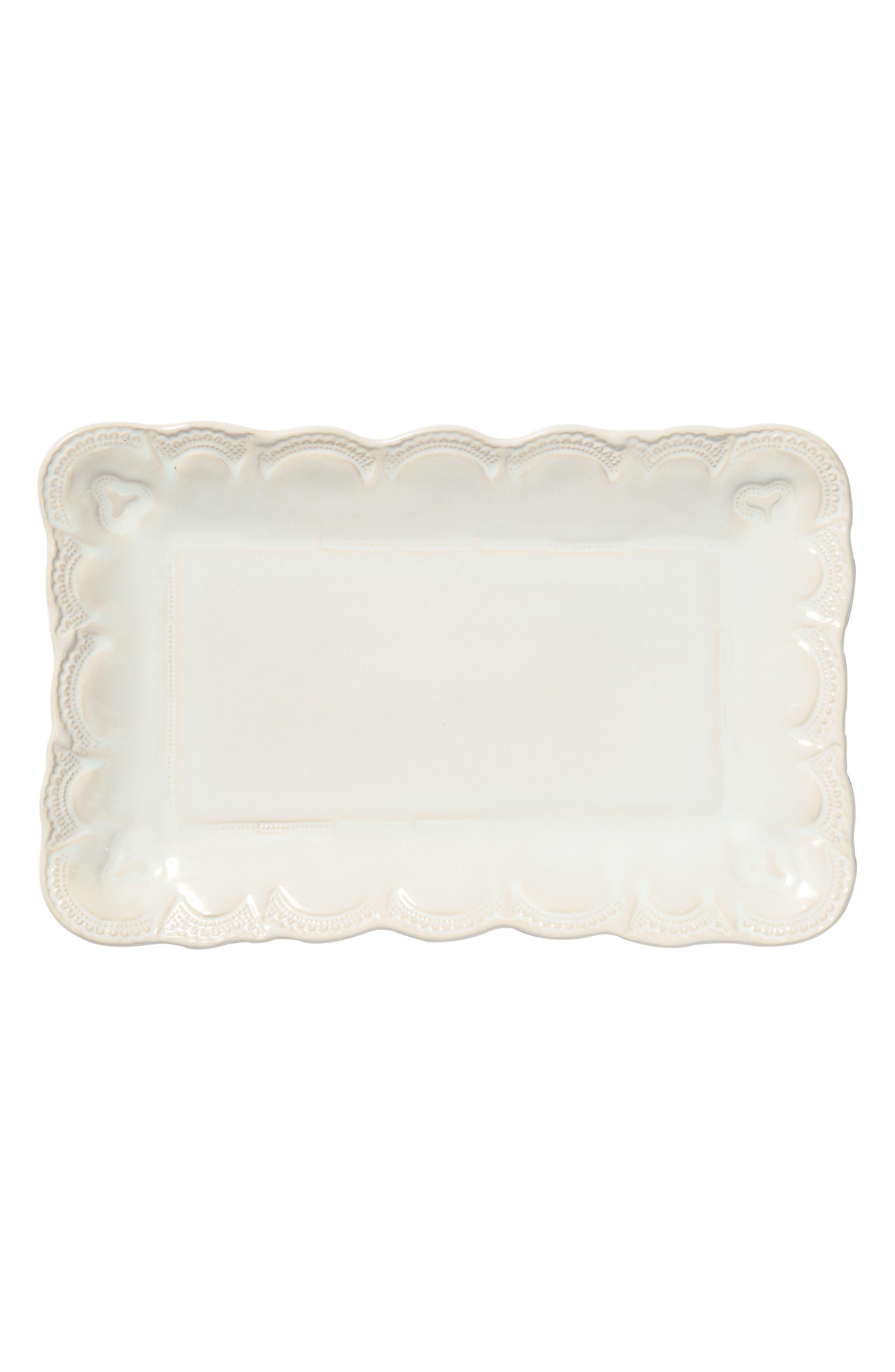 Incanto Stone Lace Small Serving Platter,                             Main thumbnail 1, color,                             Linen