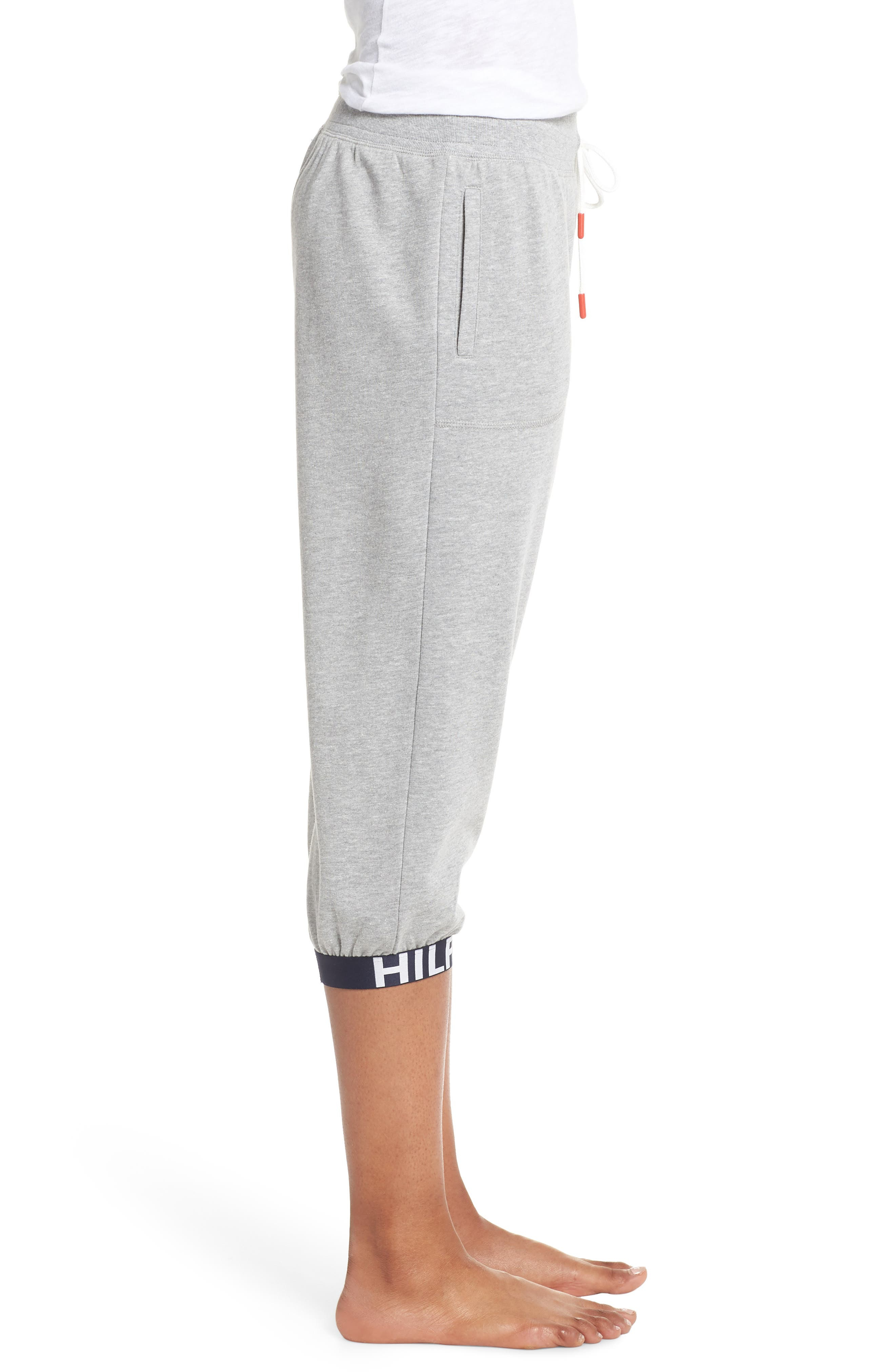 Crop Jogger Pants,                             Alternate thumbnail 3, color,                             Heather Gray